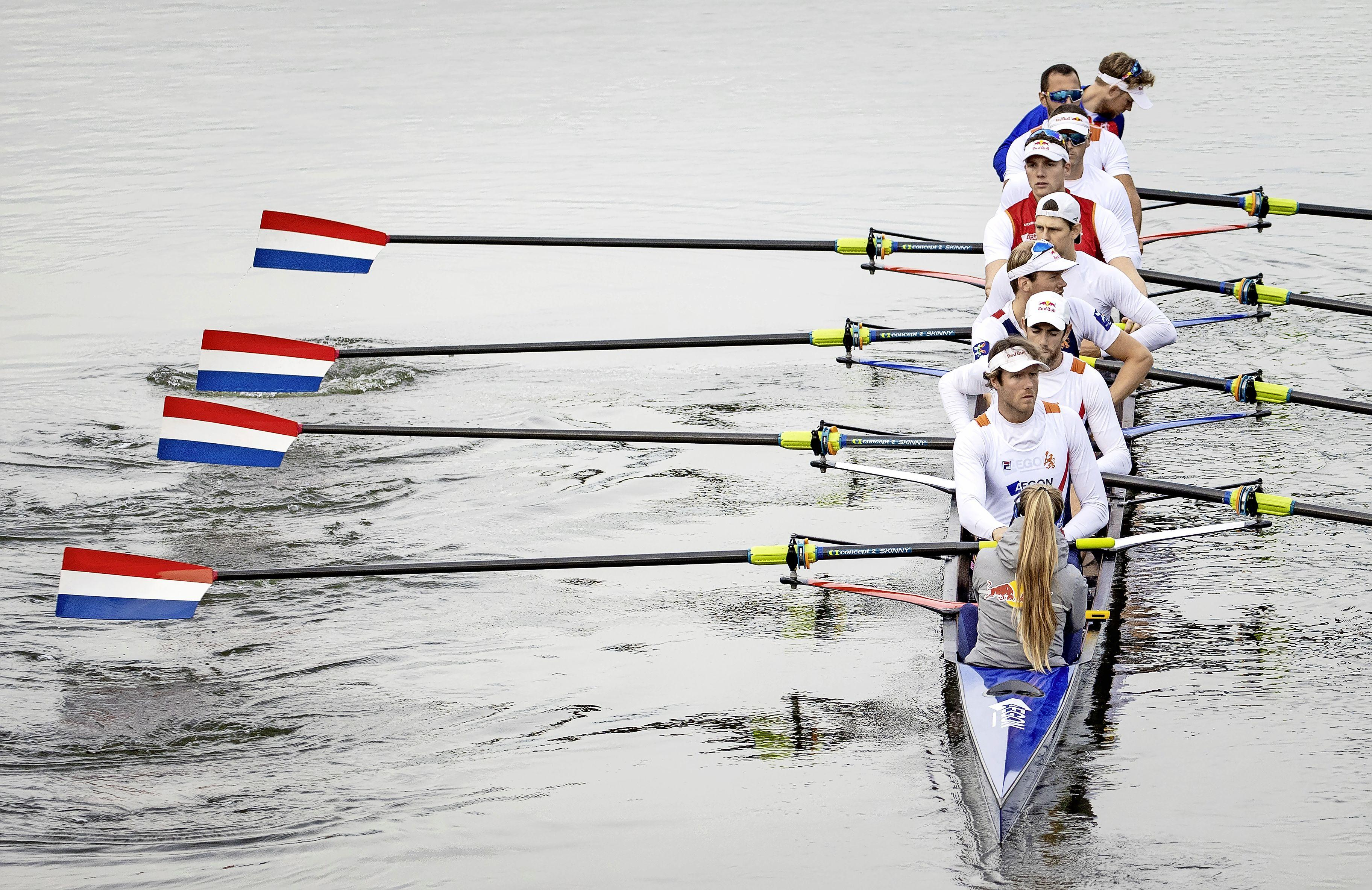 Roeier Björn van den Ende uit Naarden naar finale van Spelen met Holland Acht