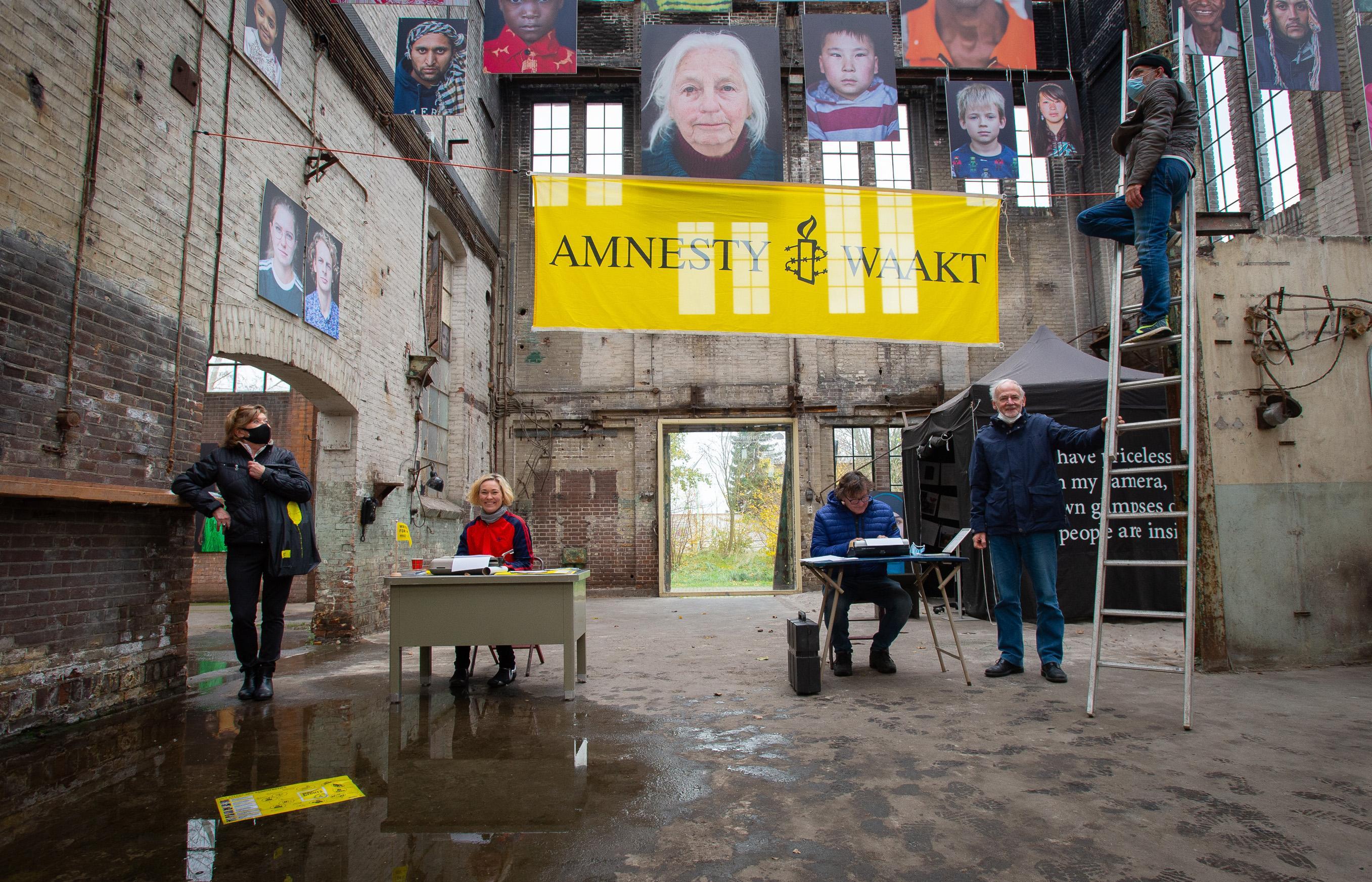 'Omdat ieder mens een kunstwerk is': schrijven voor Amnesty in Museum of Humanity op Hembrugterrein