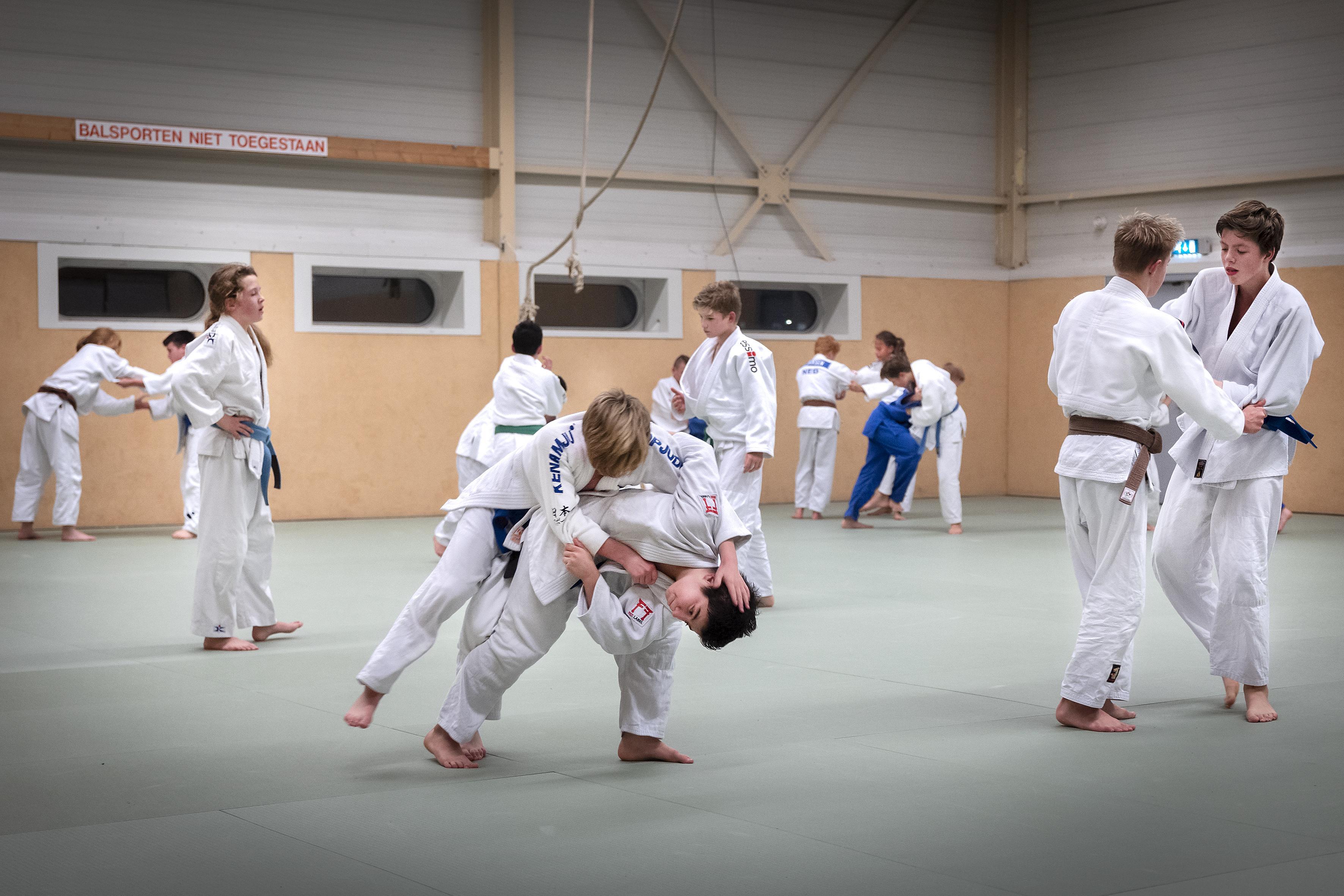 Bij de Haarlemse judoclub Kenamju dromen kinderen nog steeds