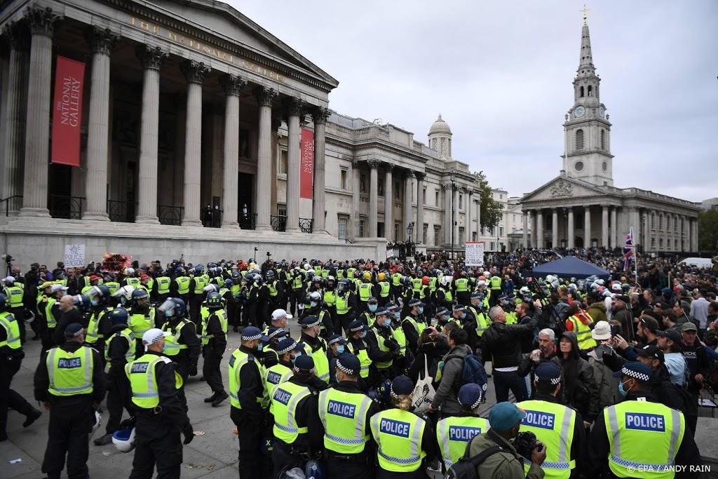 Schermutselingen tussen politie en demonstranten in Londen