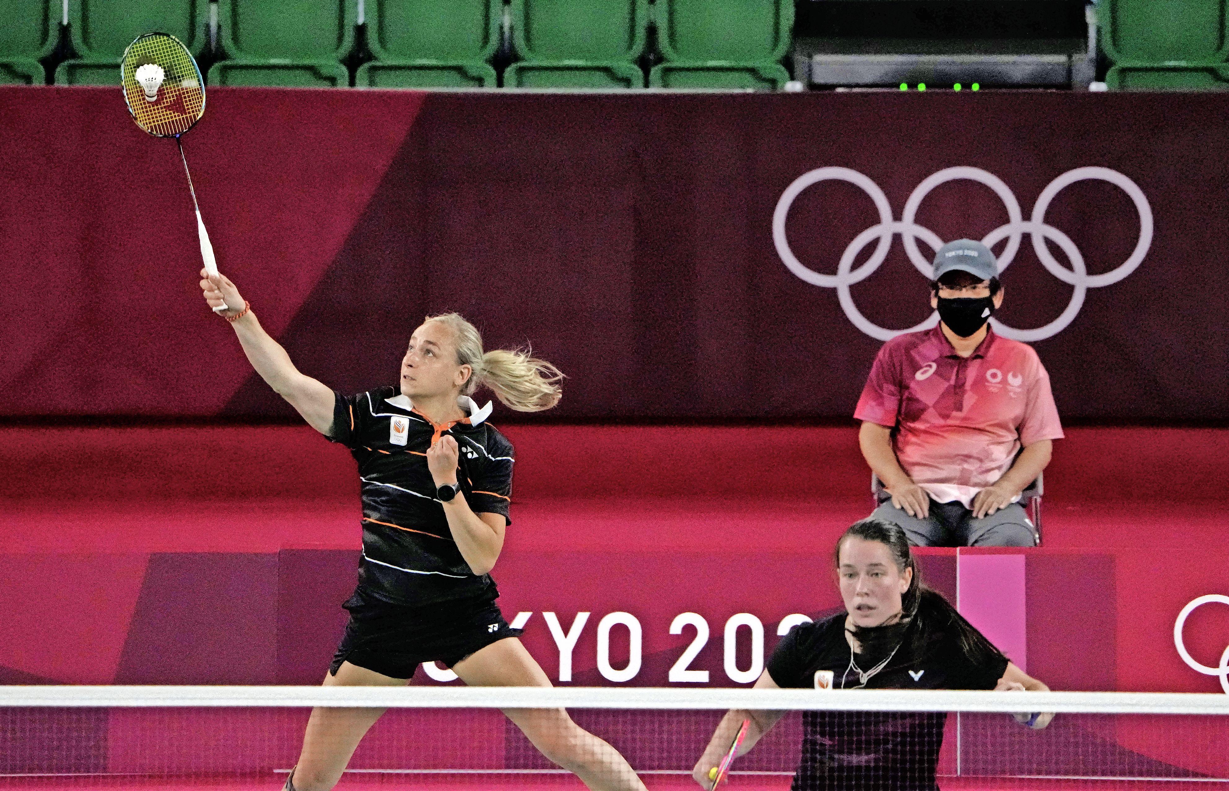 Badmintonduo Piek/Seinen onderuit tegen Japanse vrouwen