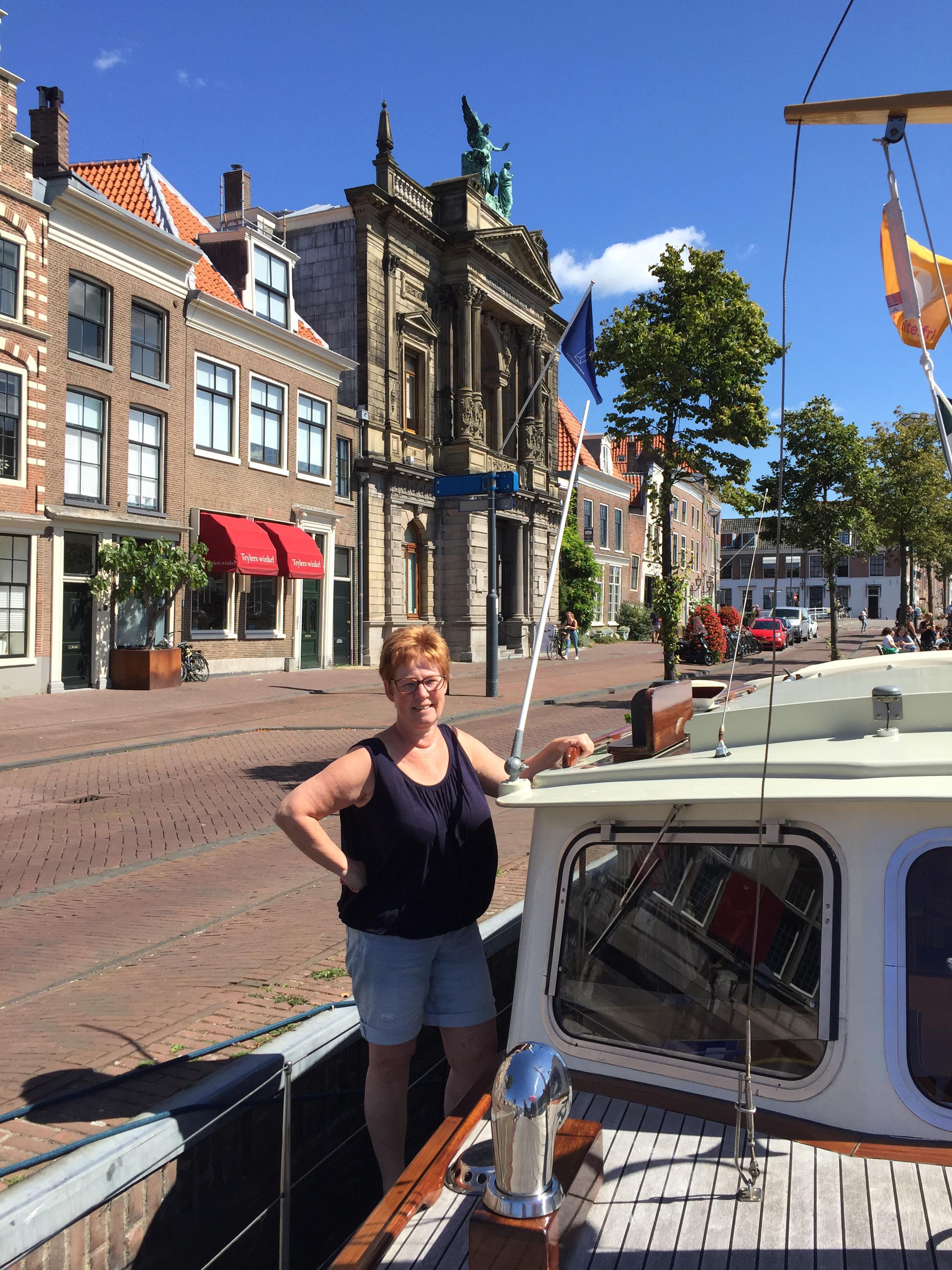 Toerist in Haarlem: 'De boot is net een caravan op het water'