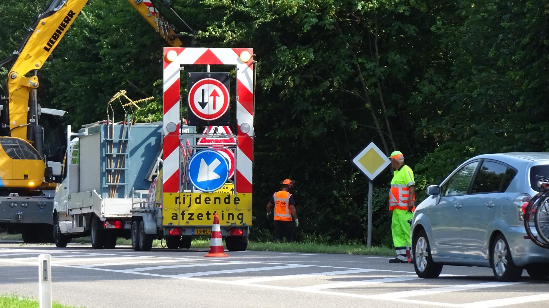 File loopt op door werkzaamheden op de N250 in Den Helder