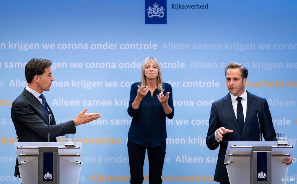 Donderdag persconferentie Rutte en De Jonge over corona