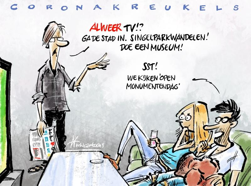 Cartoon Maarten Wolterink: Open Monumentendagen