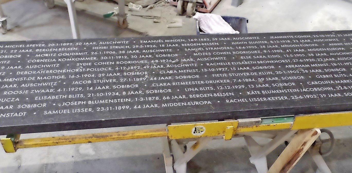 Onthulling Joods Monument Zandvoort uitgesteld, door corona en een ongelukkige tekstfout