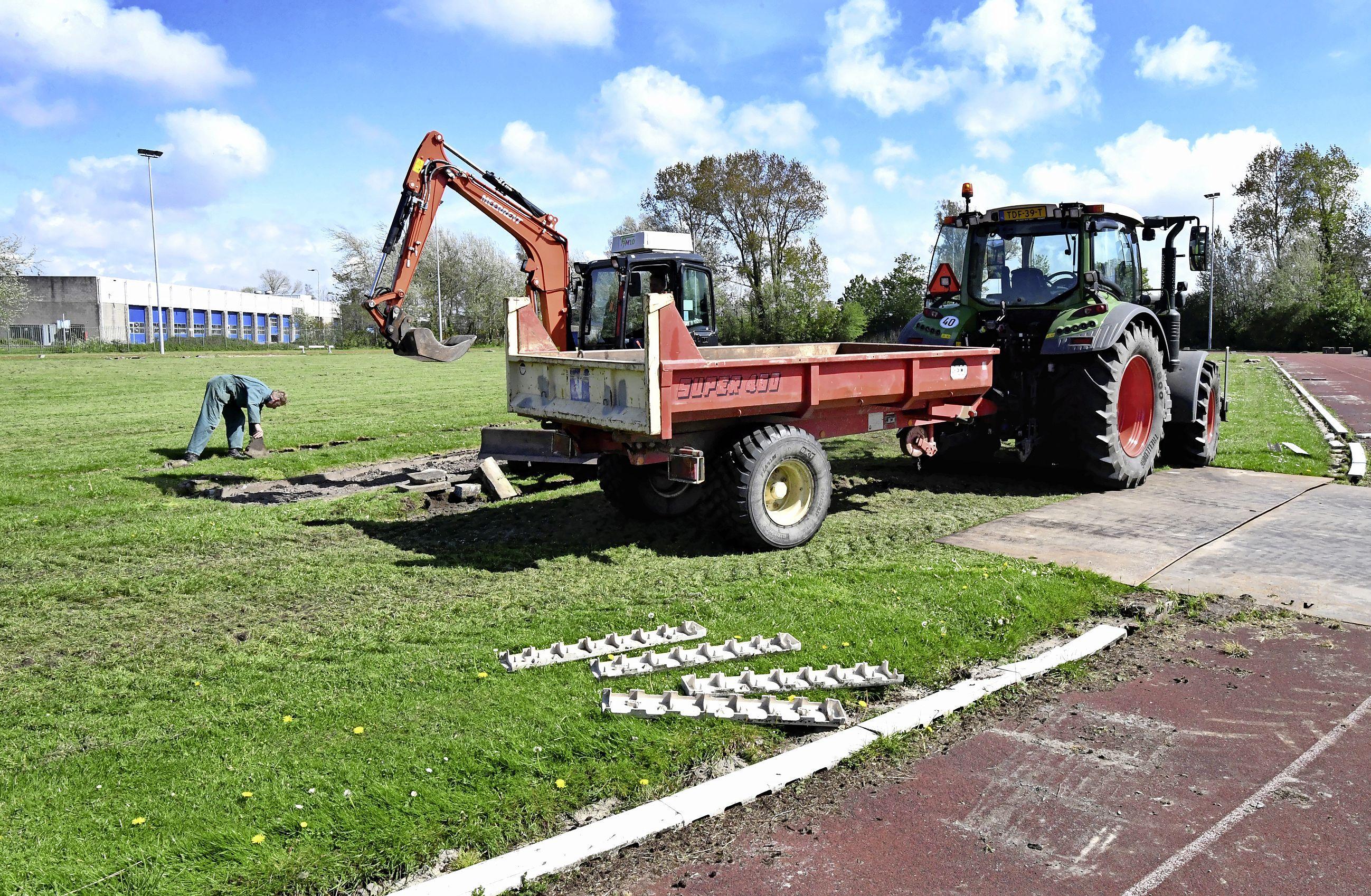 Nog een paar maanden wachten maar dan kan er straks weer gesport worden op een compleet gerenoveerd atletiekcomplex in Den Helder