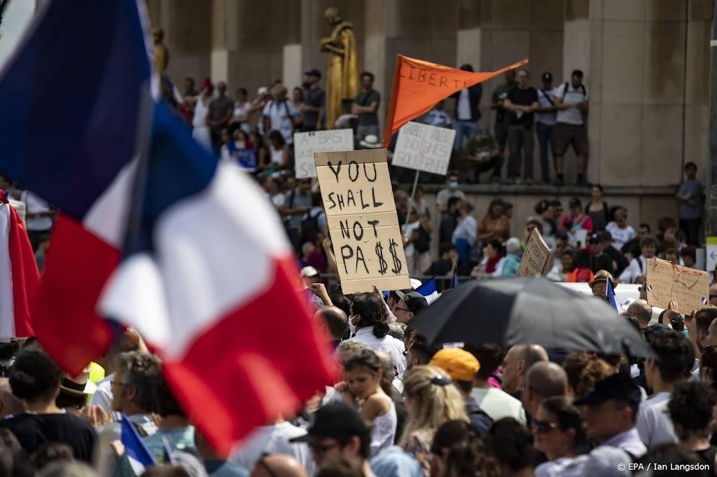 Weer betogen duizenden in Frankrijk tegen 'coronapas'