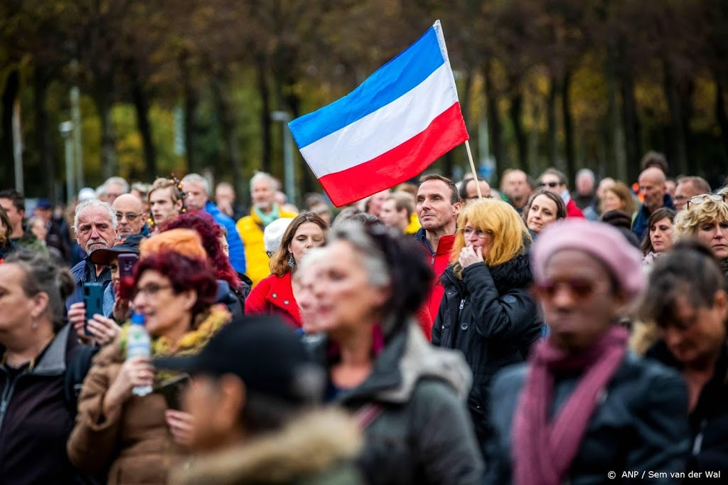 Demonstratie tegen coronawet in Den Haag