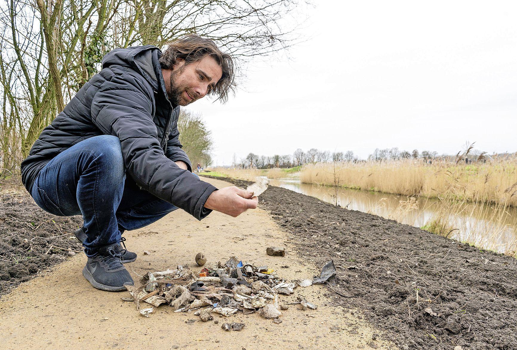 'Zeker vijf honden gewond.' Nieuw pad bij Daalmeer gefundeerd met een laag afval