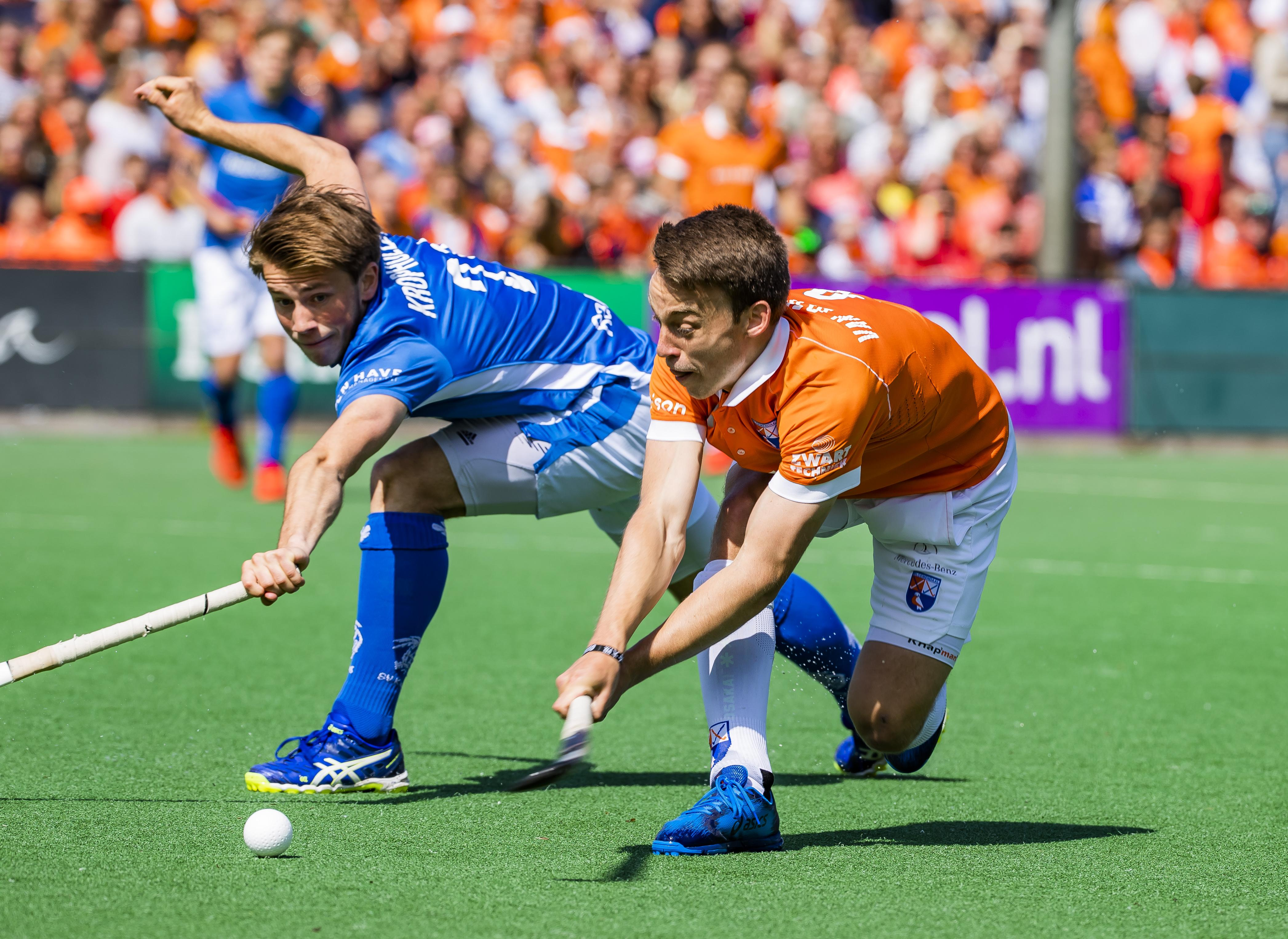 Hockeyer Yannick van der Drift (23) van Bloemendaal probeert wat positiefs te halen uit 'coronapauze': Spits doet meer in de sportschool en werkt aan zijn techniek
