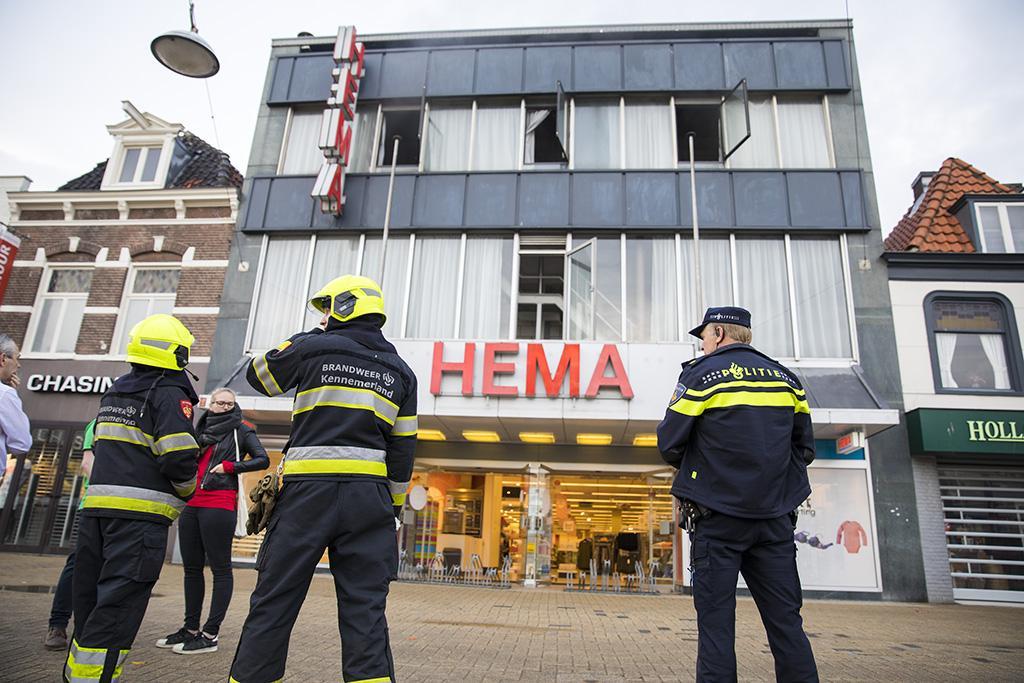 Beverwijks Hema-filiaal hele dag dicht door brand
