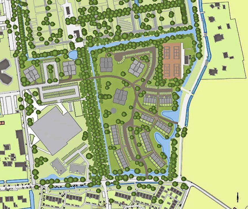 110 appartementen en 42 huizen: dit zijn de plannen voor het voormalige voetbalterrein in Bergen