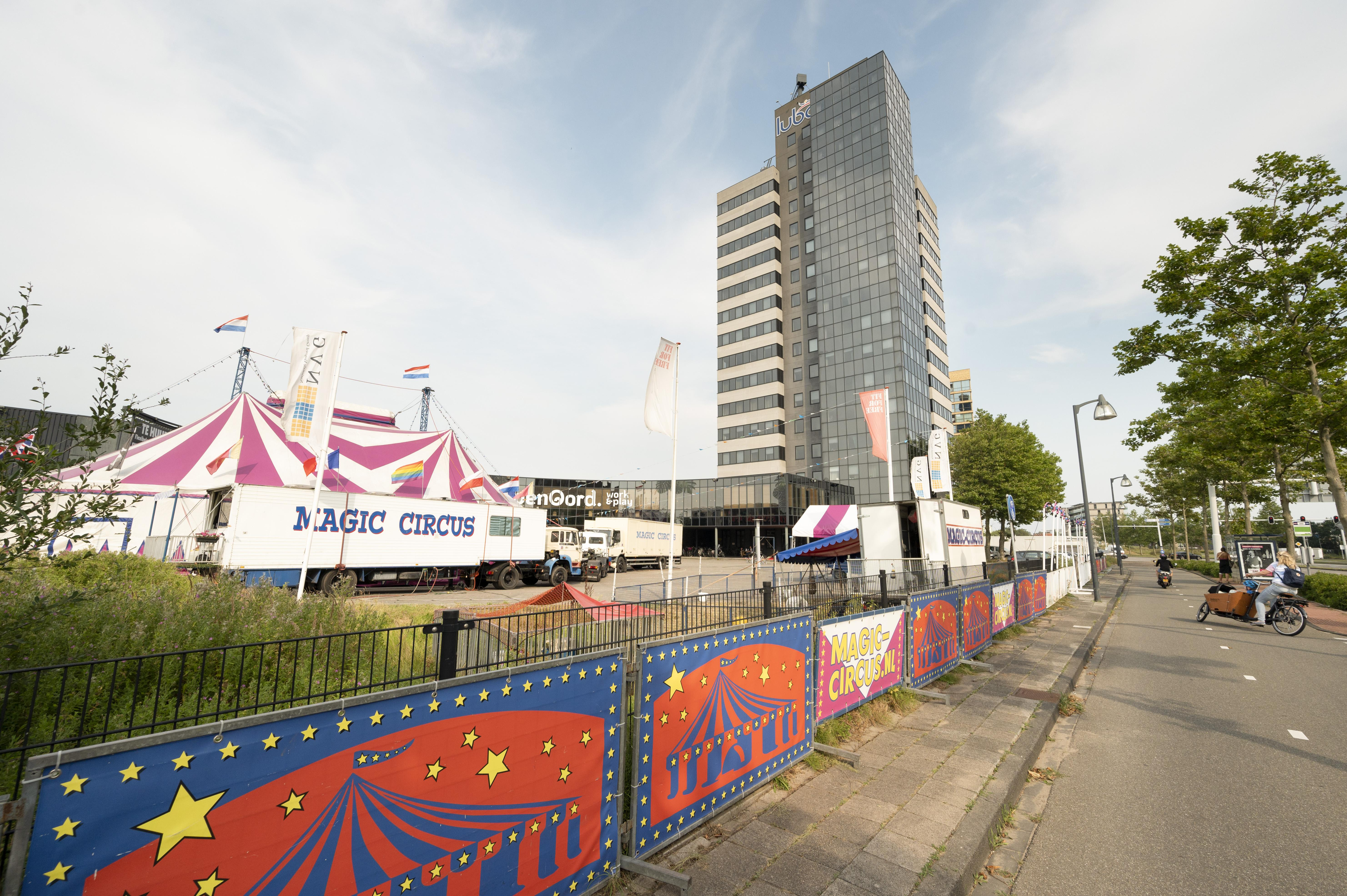 Magic Circus als een van de eerste in Nederland weer in bedrijf in Leiden: 'We blijven juist in deze tijd veilig en gezellig'
