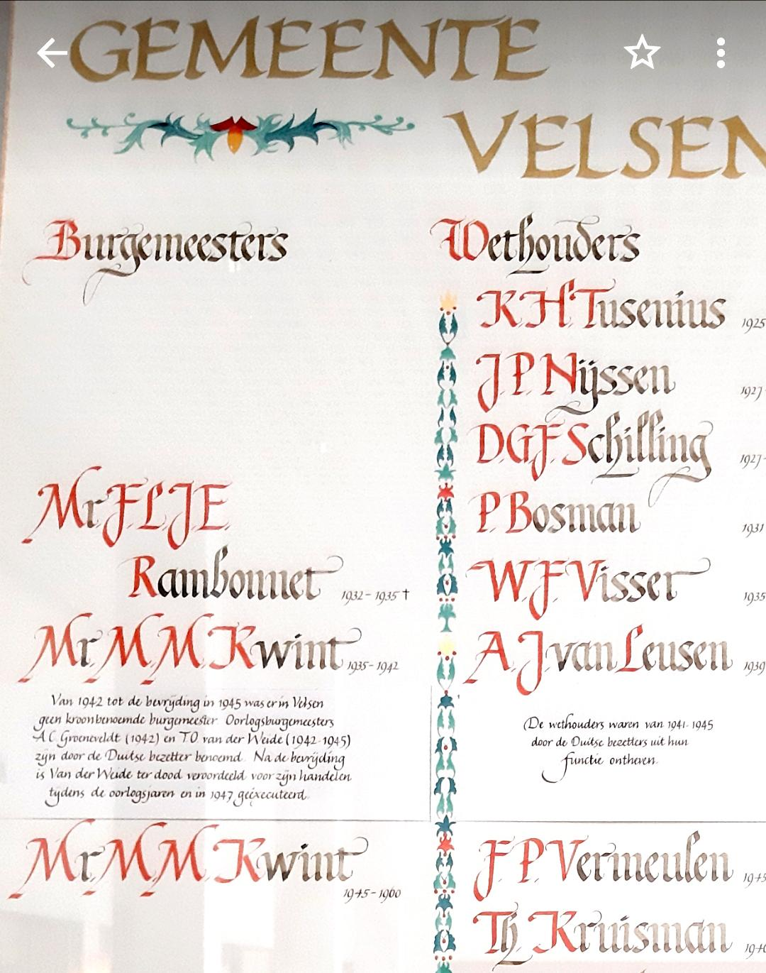Omstreden herinneringsplakkaat met naam fanatieke Velsense NSB-burgemeester Tjeerd van der Weide hangt weer op z'n plek, met herziene tekst