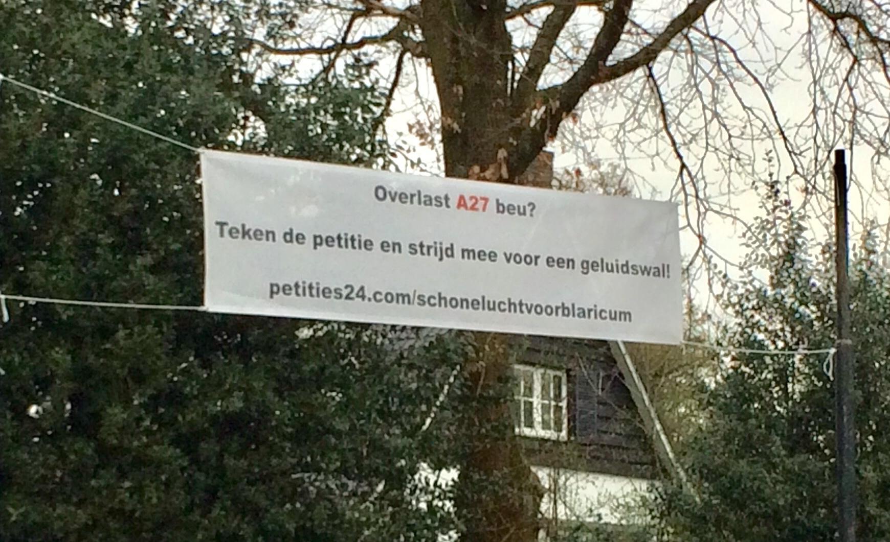 Verzet op doek langs Blaricumse wegen; honderden tekenen A27-petitie