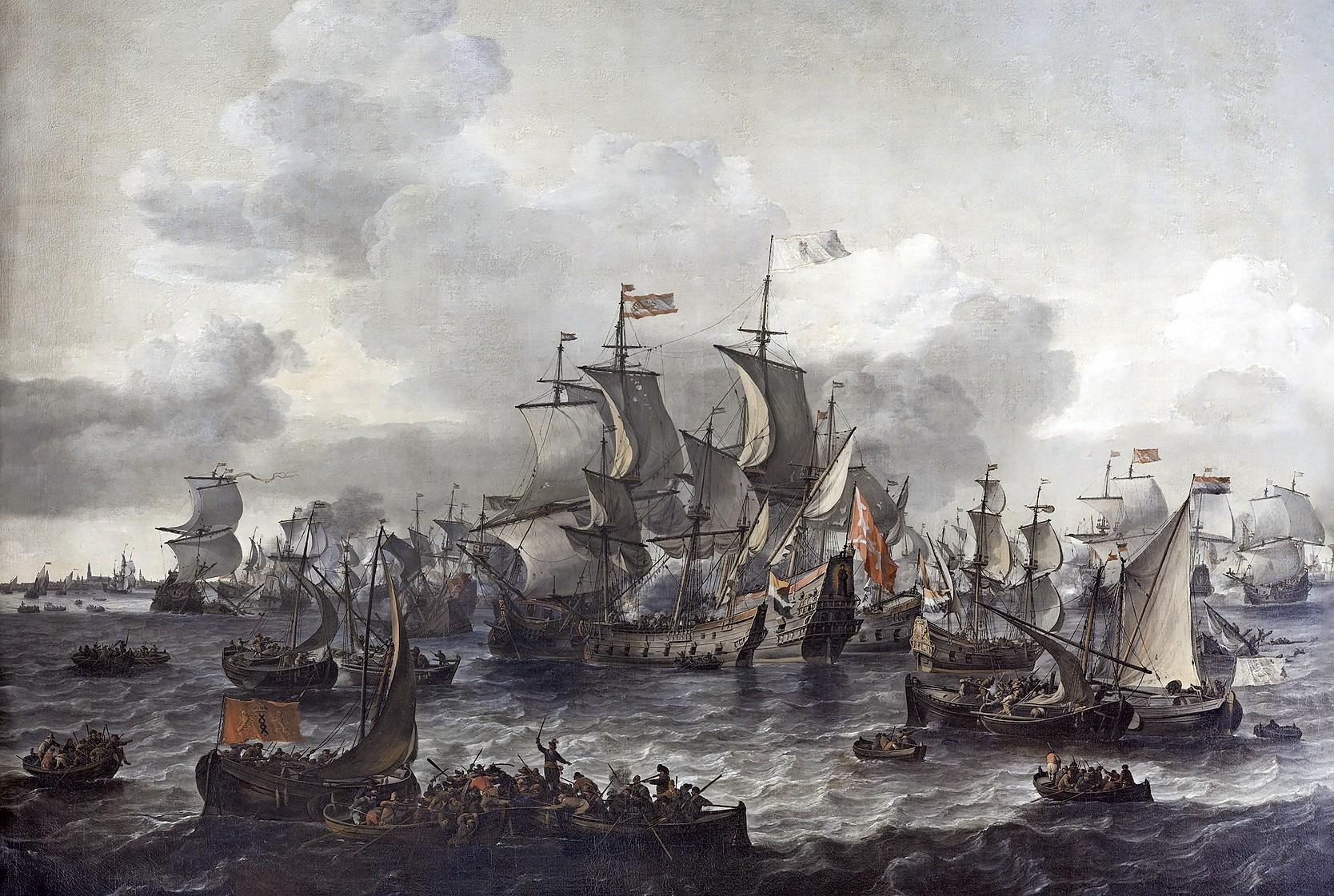 En toen, 850 jaar geleden, was daar opeens de Zuiderzee en zwom er een wijting in de stadsgracht
