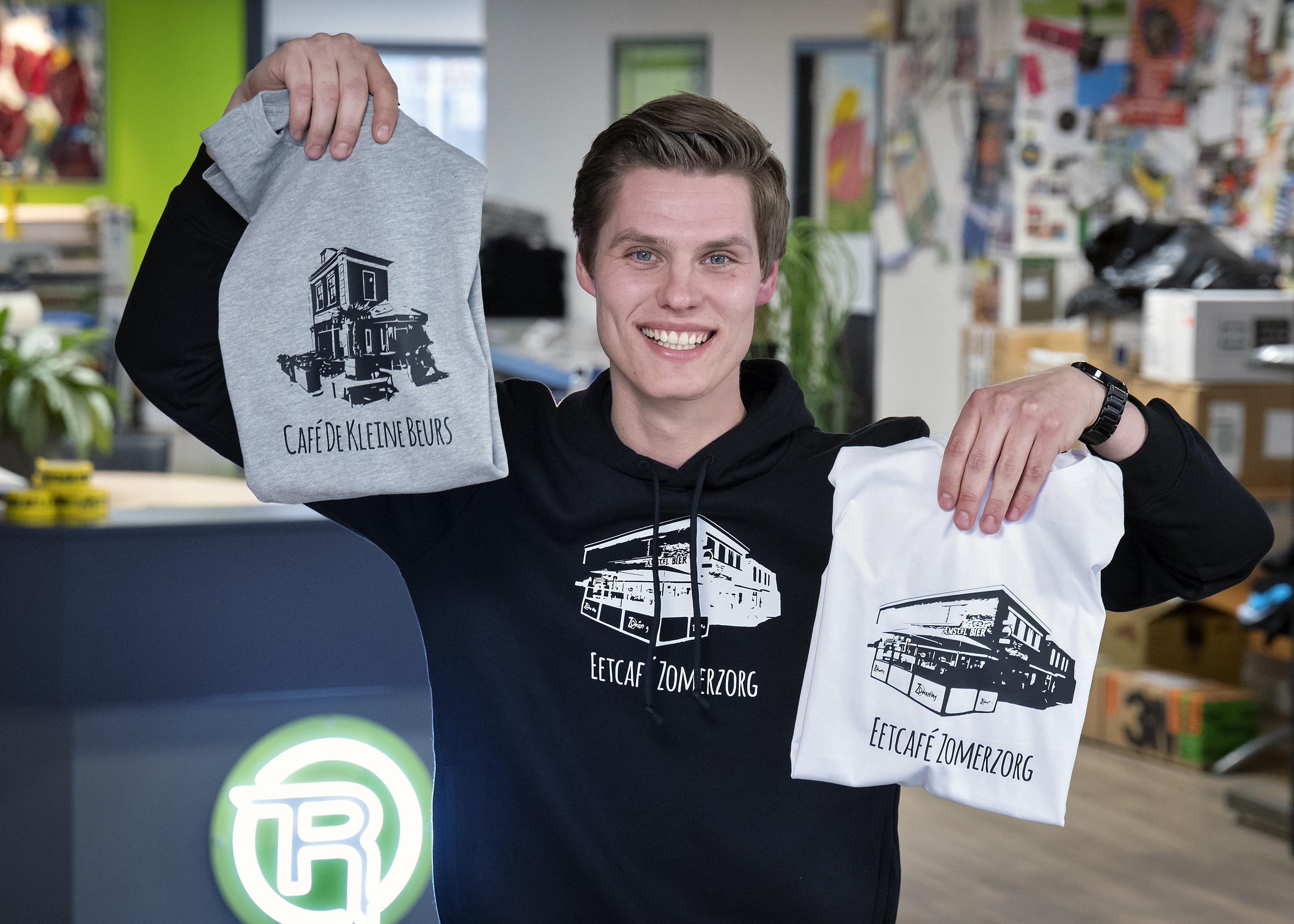 Steun de Hillegomse horeca - koop een shirt! Reclamebureau RET steekt cafés en restaurants hart onder de riem