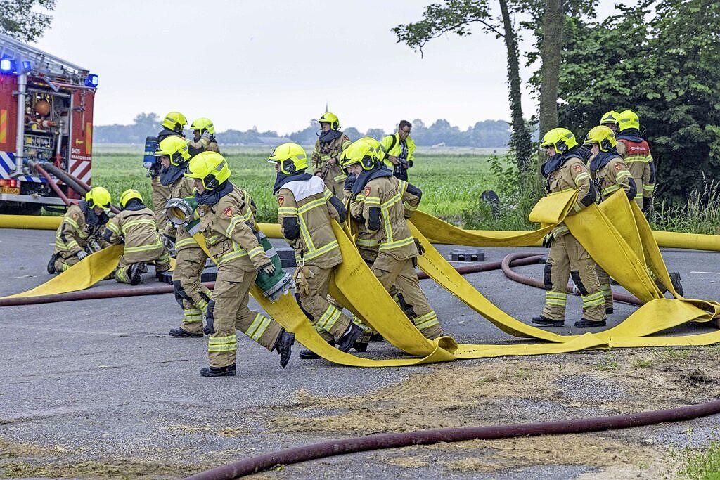 Bluswerkzaamheden bij grasdrogerij Hartog afgerond. Bedrijf langs de A7 ontsnapt aan ramp