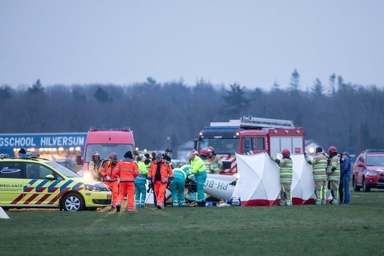 Ongeluk met sportvliegtuig op vliegveld Hilversum