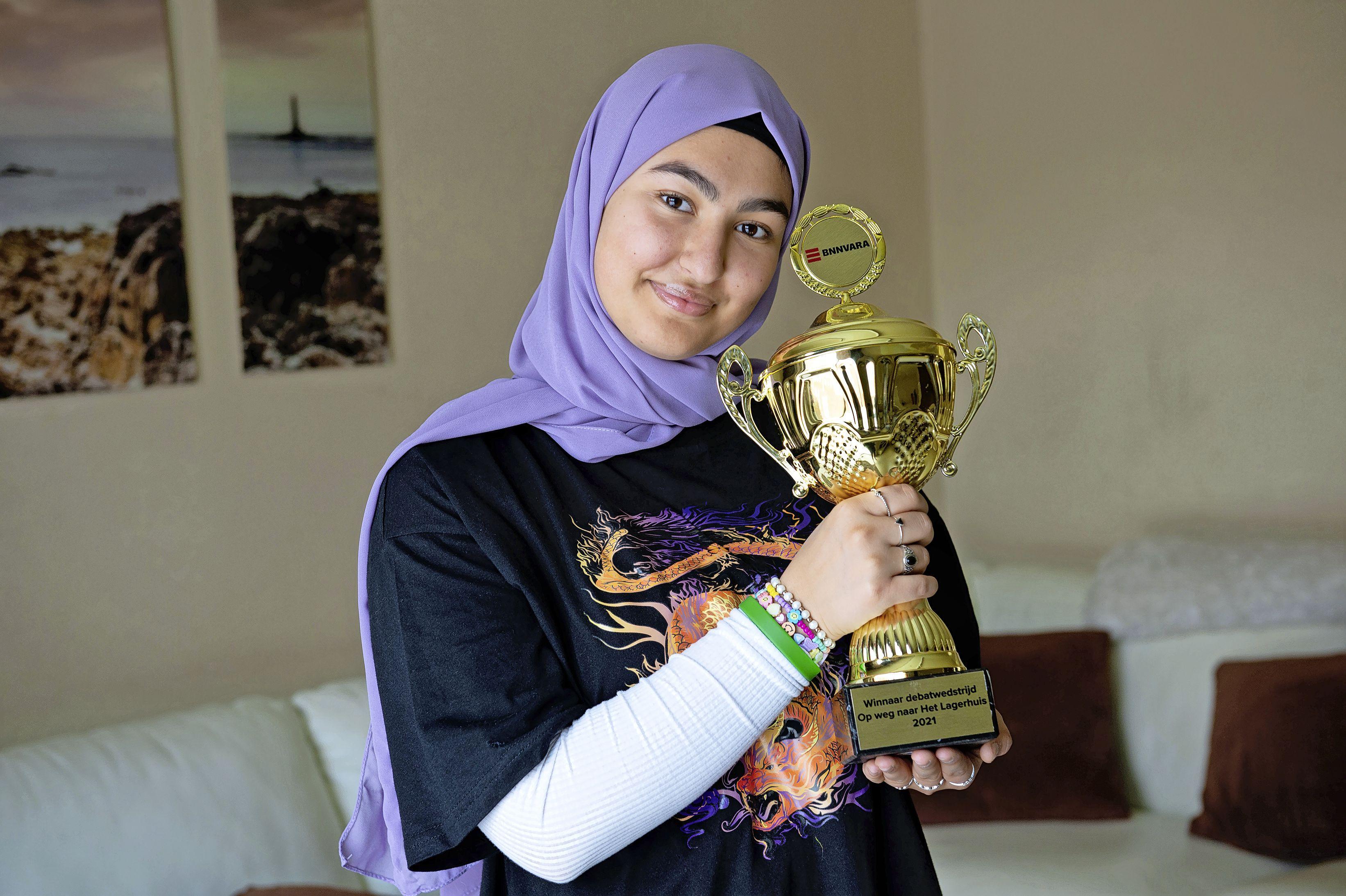 Assendelftse Mariam (17) wint Op weg naar Het Lagerhuis. 'Strafrechtadvocaat Natacha Harlequin is mijn idool'