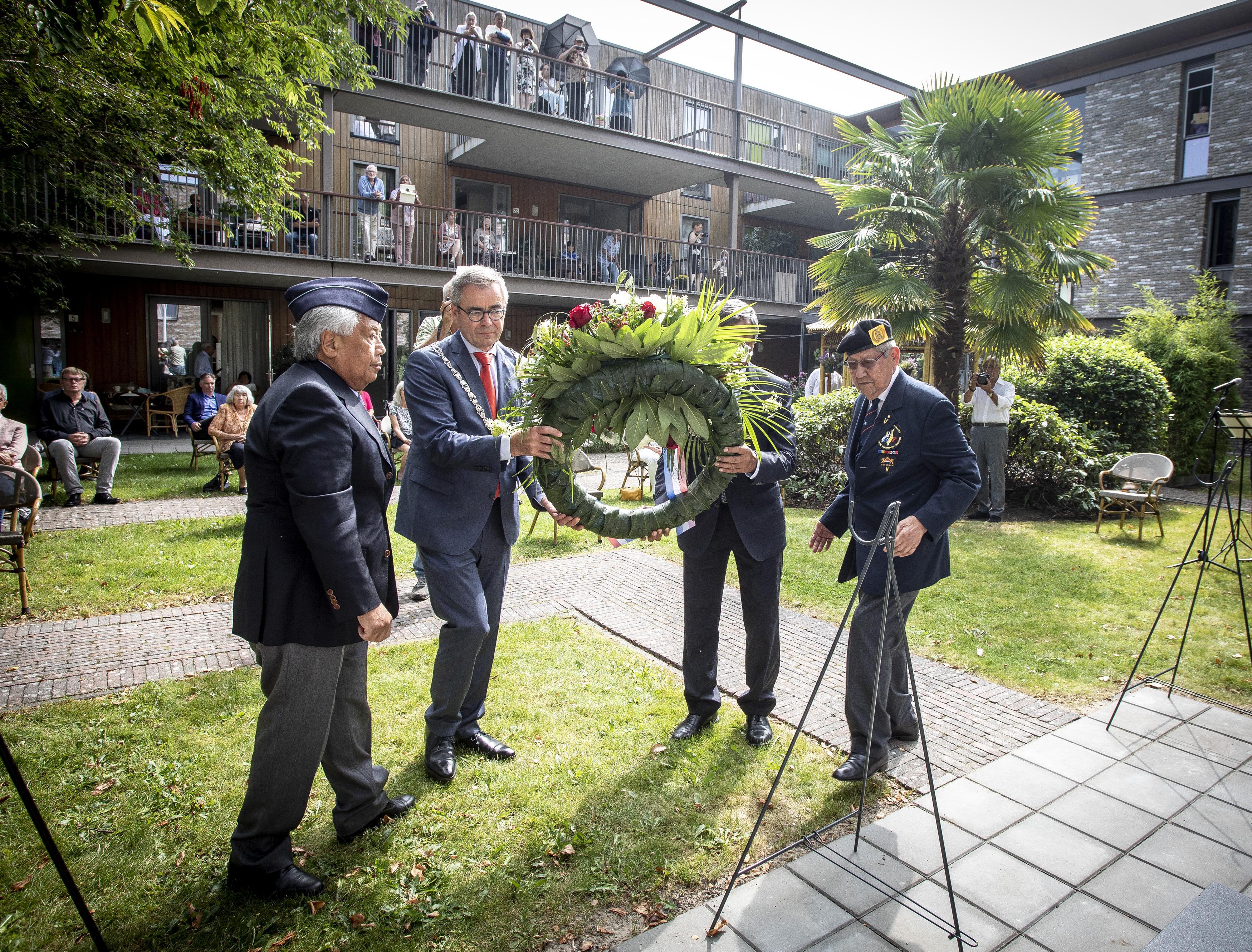 Herdenking Japanse overgave in wooncentrum Lieflijk Indië: 'Capitulatie betekende nog geen vrede'