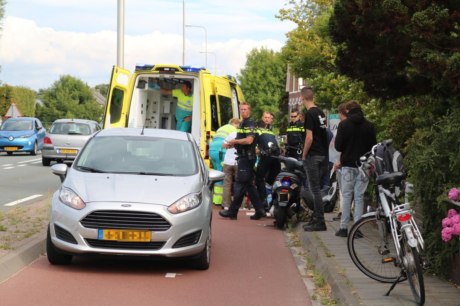 Scooterrijder gewond bij ongeval op N443 in Voorhout