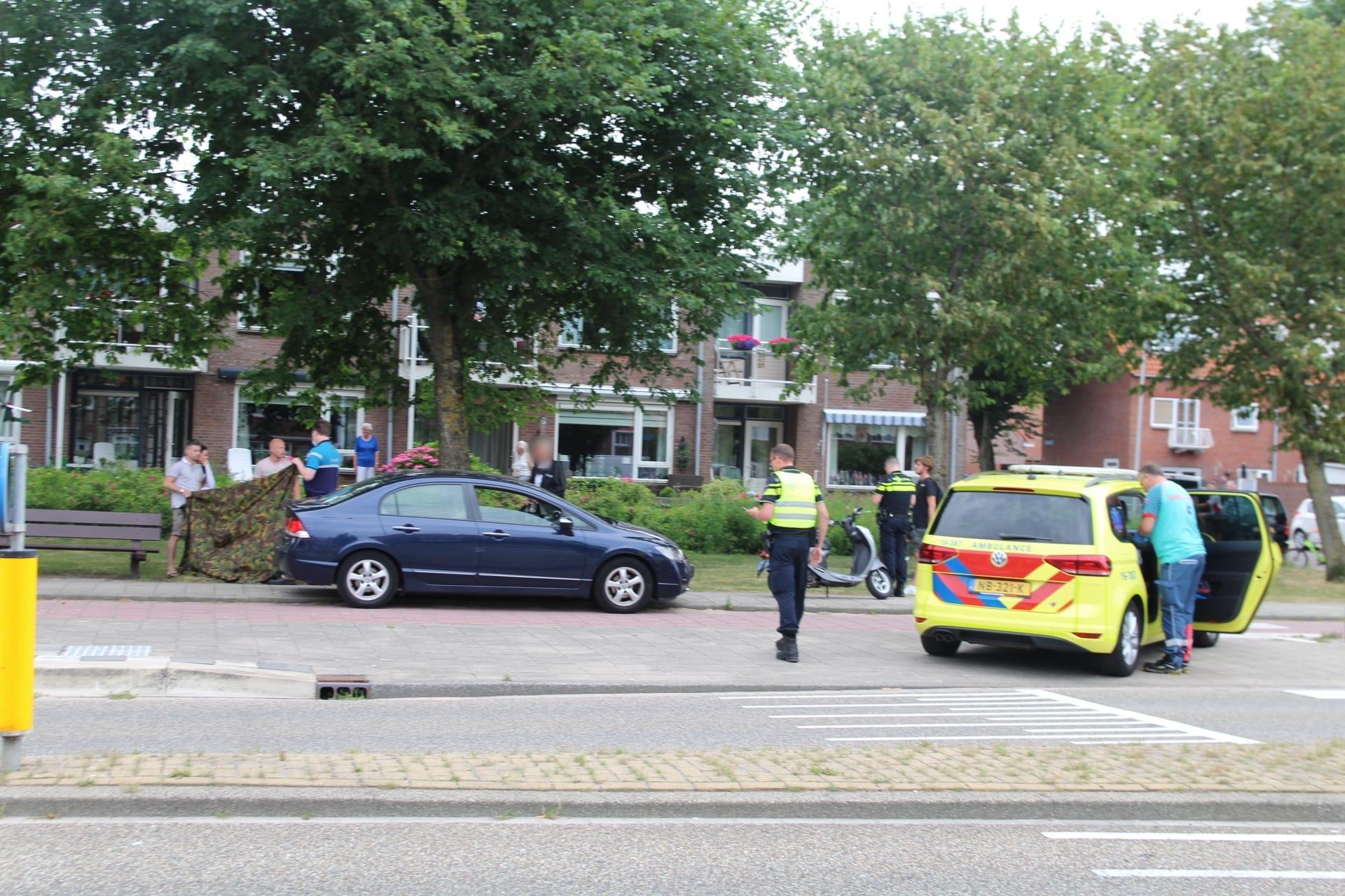 Kindje gewond bij aanrijding met scooter in Katwijk, scooterrijder aangehouden
