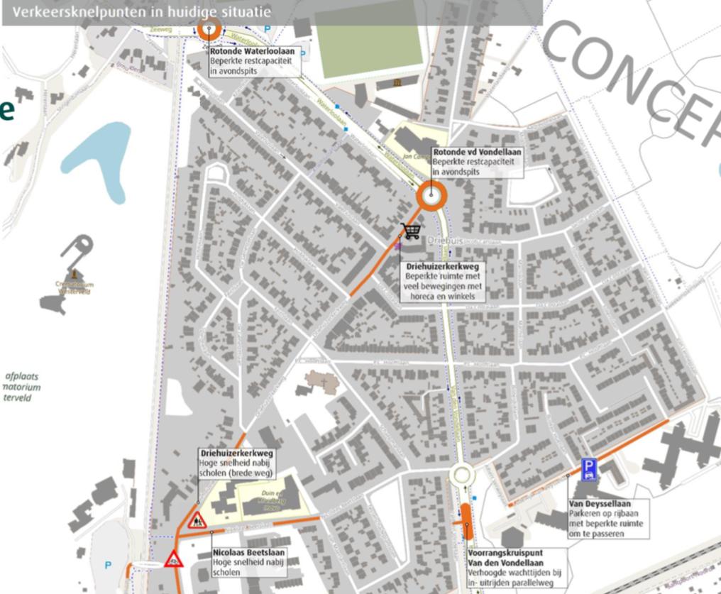 Voor elk verkeersprobleem in Driehuis is een oplossing, ook al groeit het aantal auto's extreem