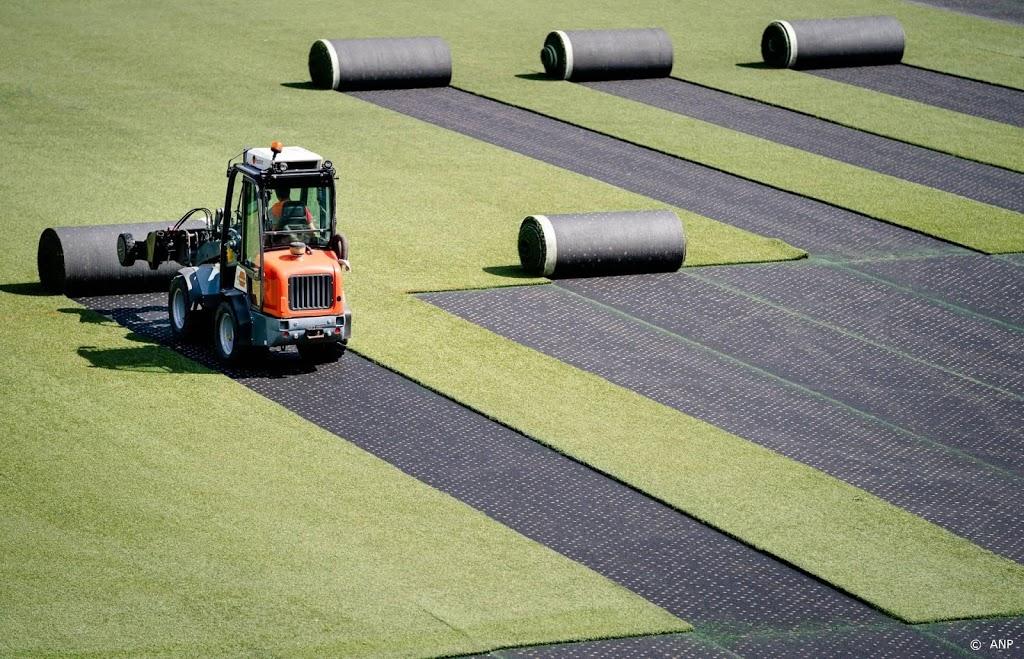 Eerste biologisch afbreekbare kunstgrasveld ter wereld in Emmen
