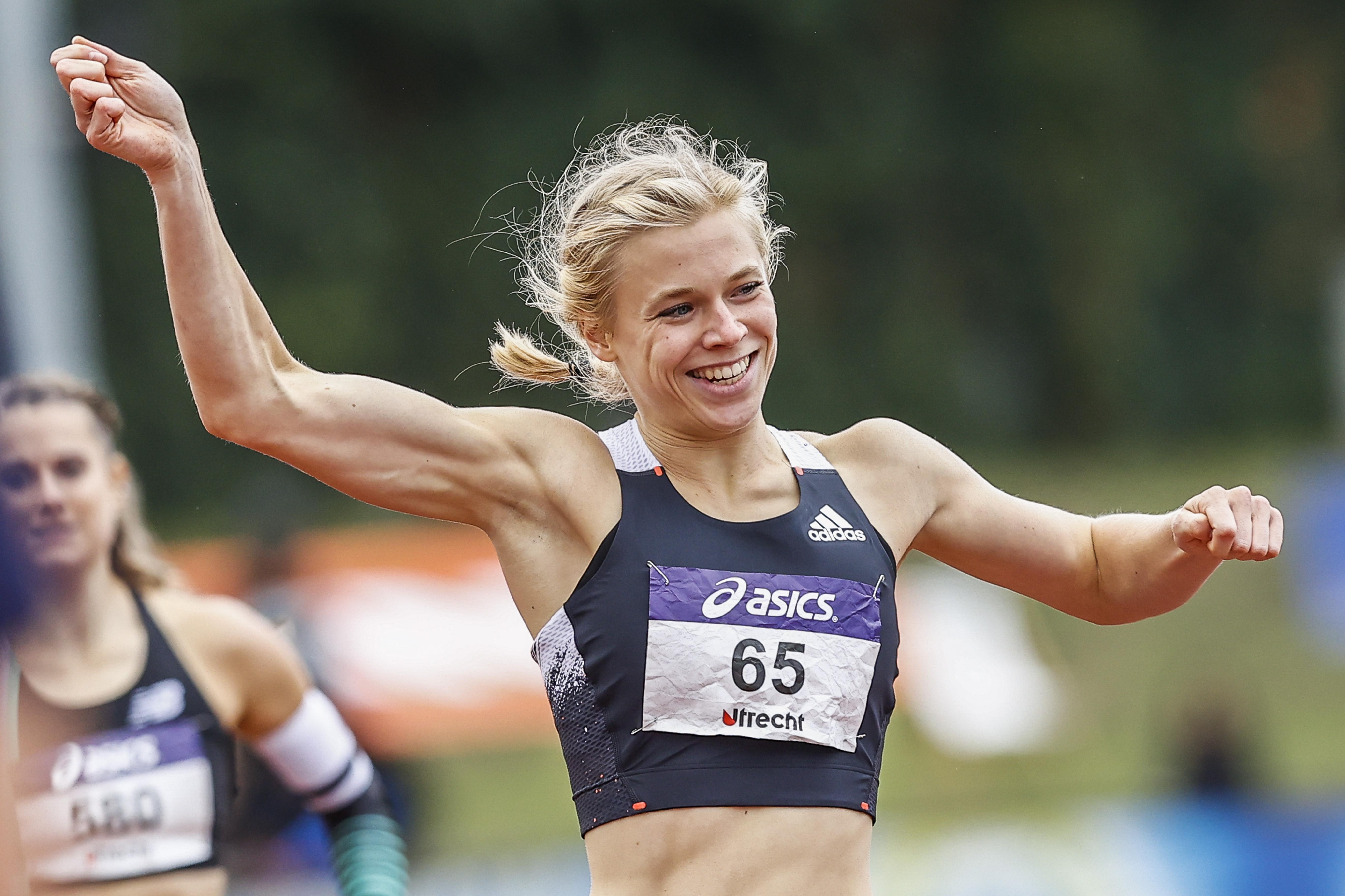 De Gouden Spike vormt voor Nederlands kampioene Andrea Bouma het sluitstuk van een prachtig seizoen: 'Ik deed te veel krachttraining en was mijzelf aan het oppompen'