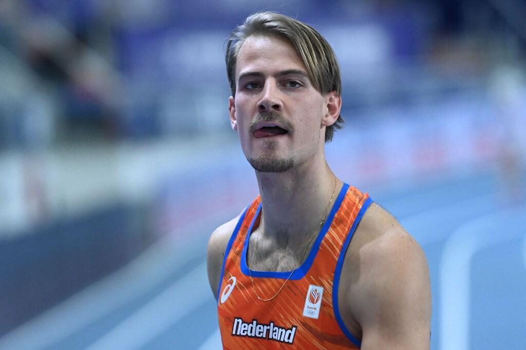 Jochem Dobber uit Santpoort-Zuid loopt PR 400 meter bij Gouden Spike