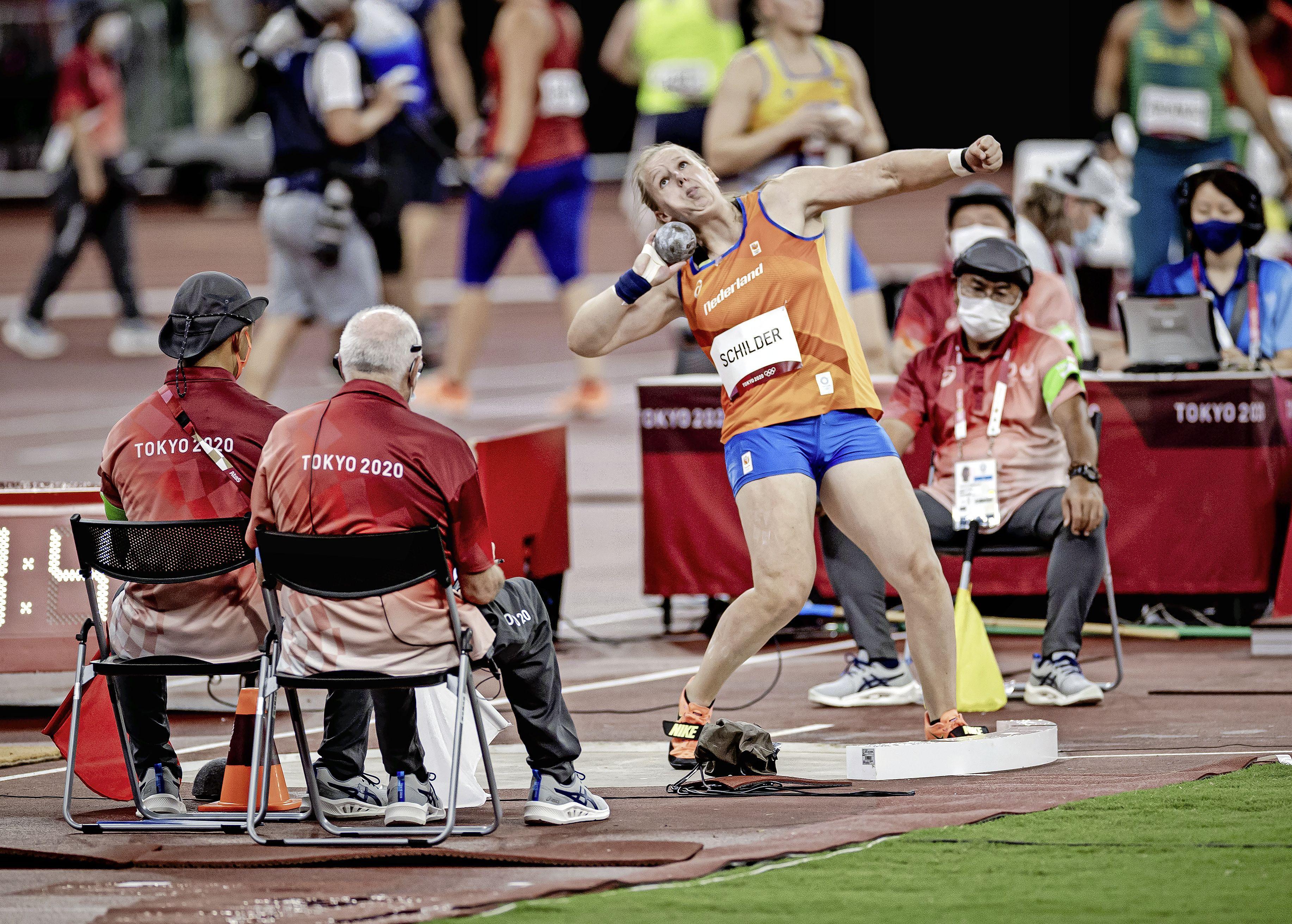 Kogelstootster Jessica Schilder weet niet tot olympische finale door te dringen