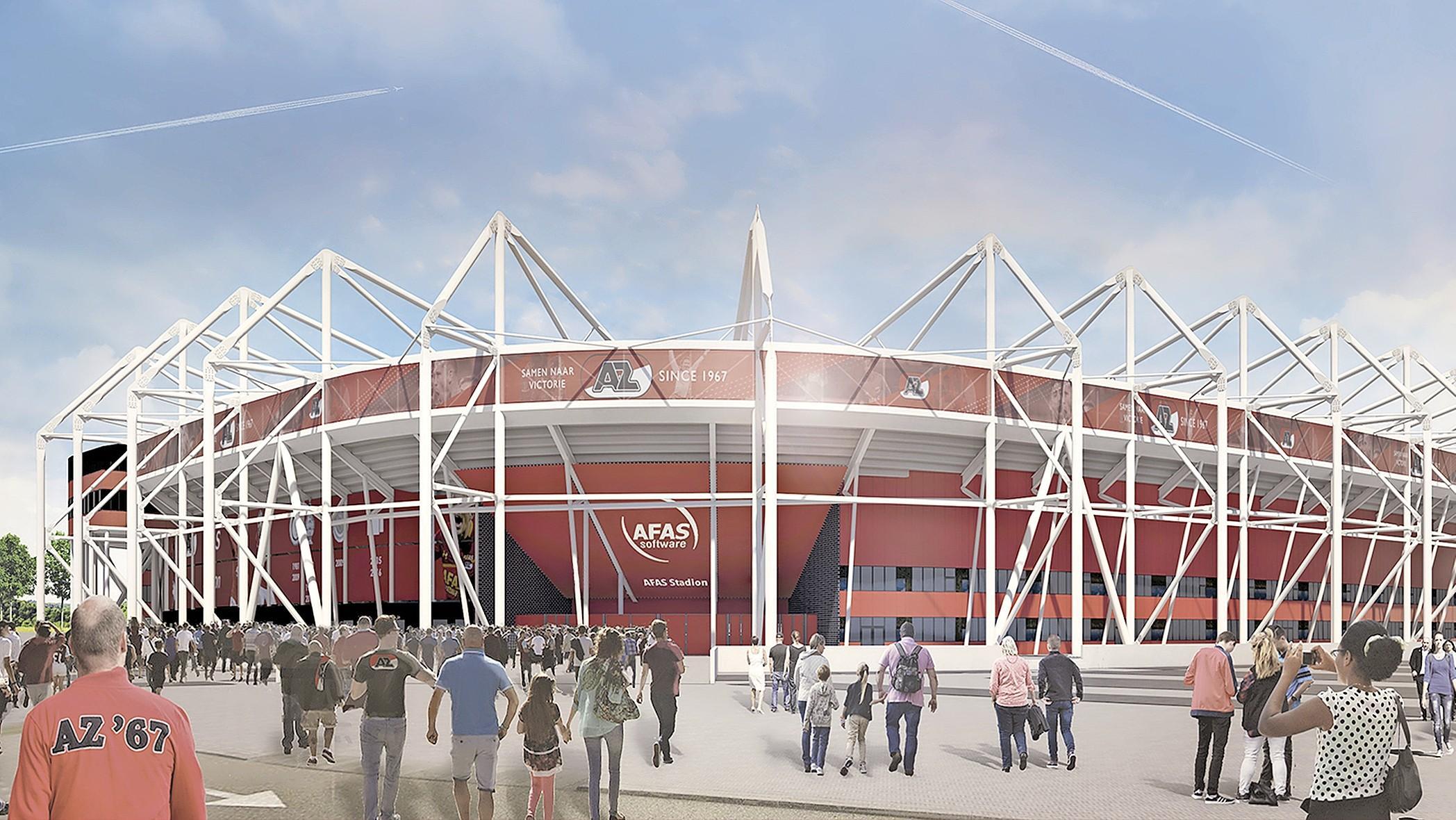 AZ mag 10 miljoen euro lenen van de gemeente Alkmaar voor het nieuwe dak van het stadion