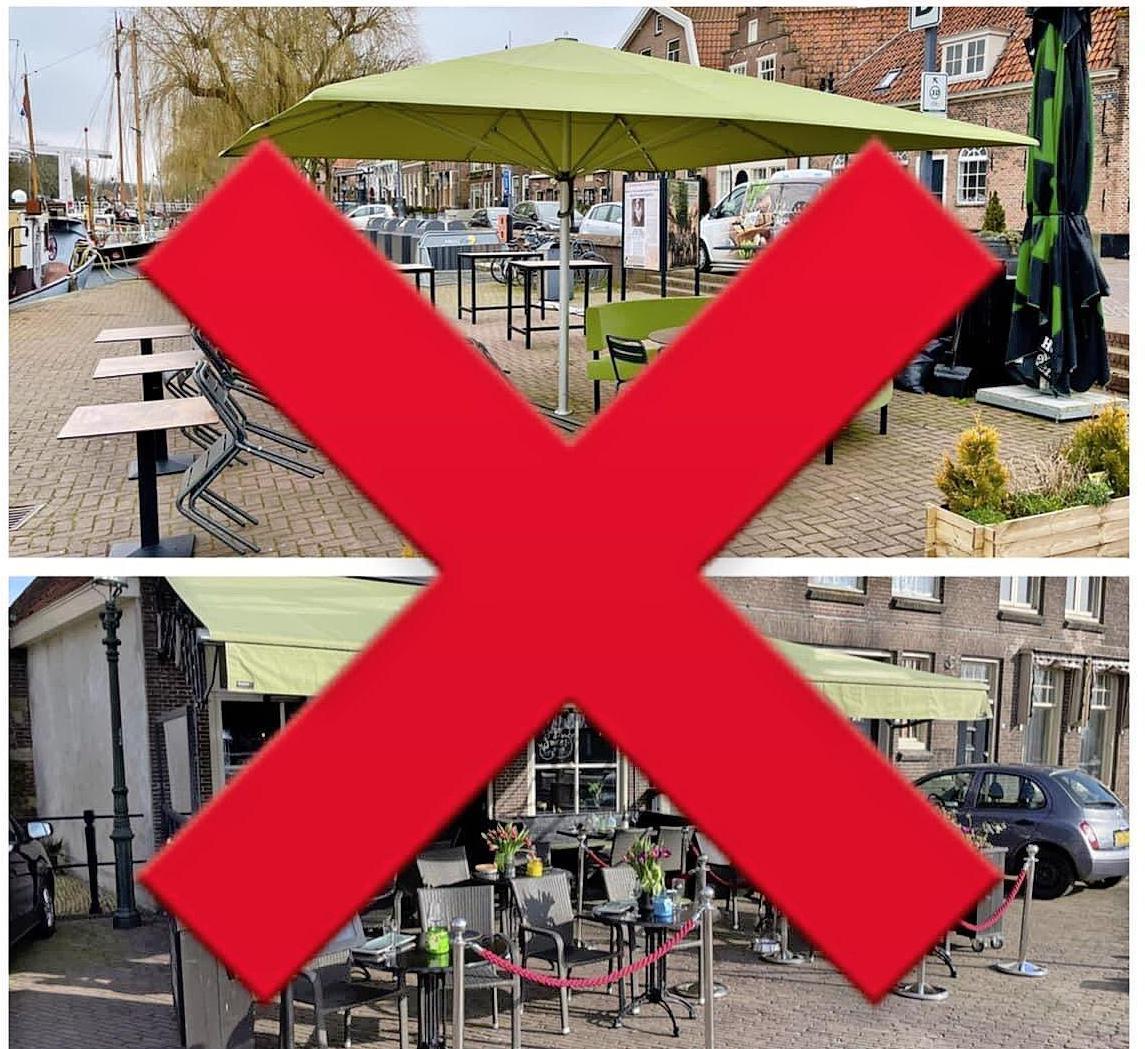 Enkhuizer Jacco Schilder hoopt dat Horeca Nederland vuist maakt voor open terrassen. Het zijne bleef dicht. 'Je kunt dit alleen met z'n allen doen'