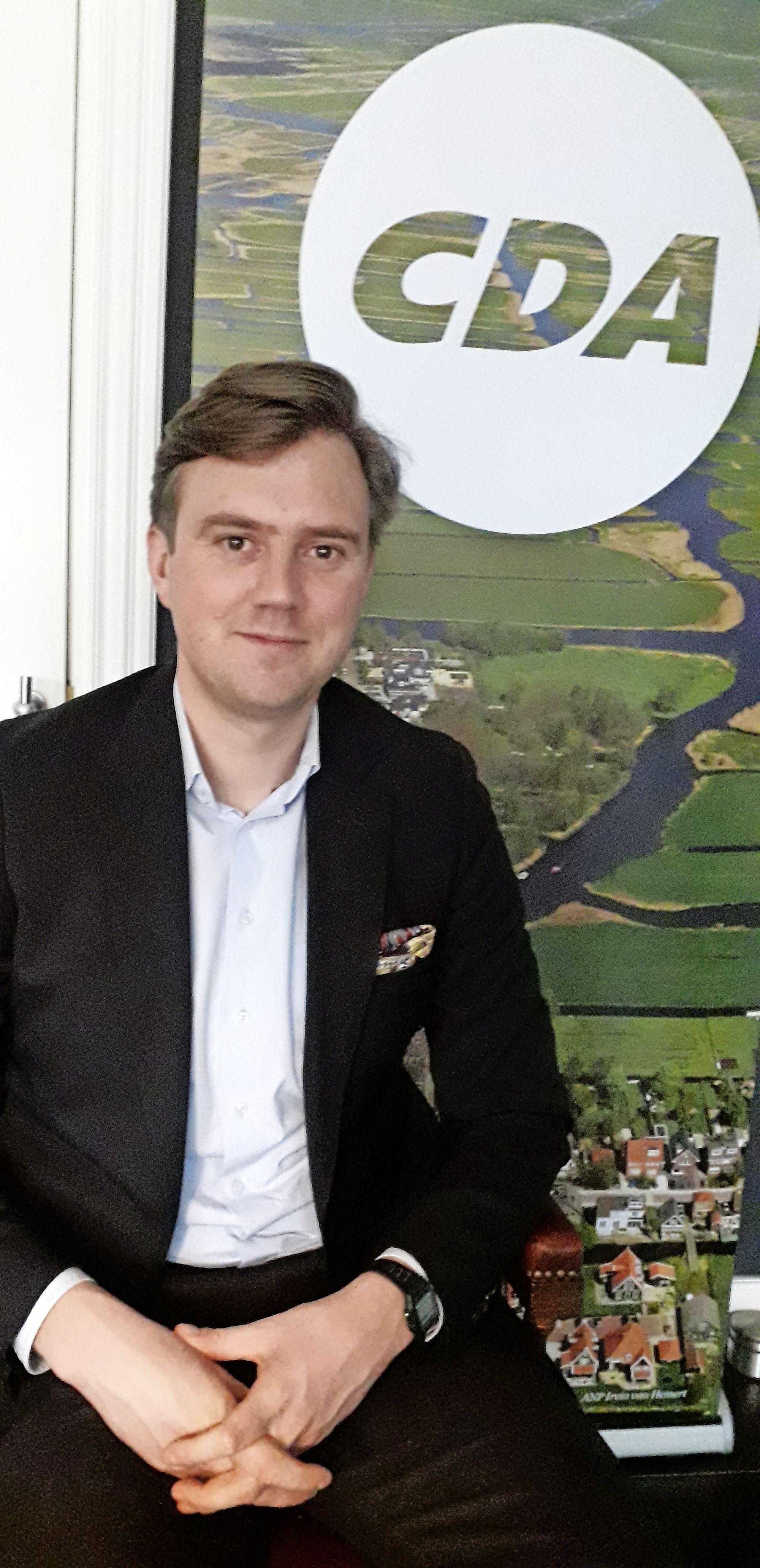 Bram Beemster is, als CDA-campagneleider in Noord-Holland, best te porren voor een avontuur. 'Ik ga niet met geluidswagen door dorp'