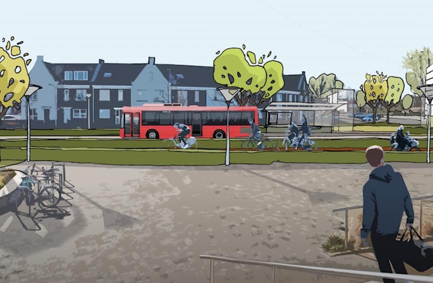 Twee scenario's voor tracé snelbus in Lisse [video]