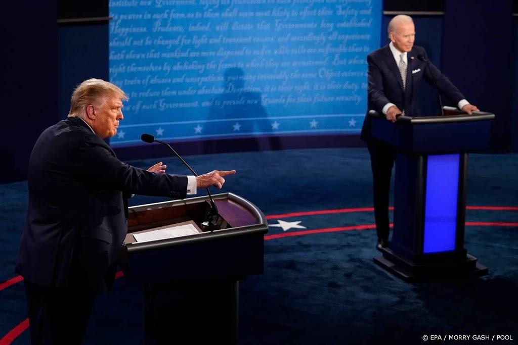 Vragenuurtje Trump en Biden gelijktijdig op tv
