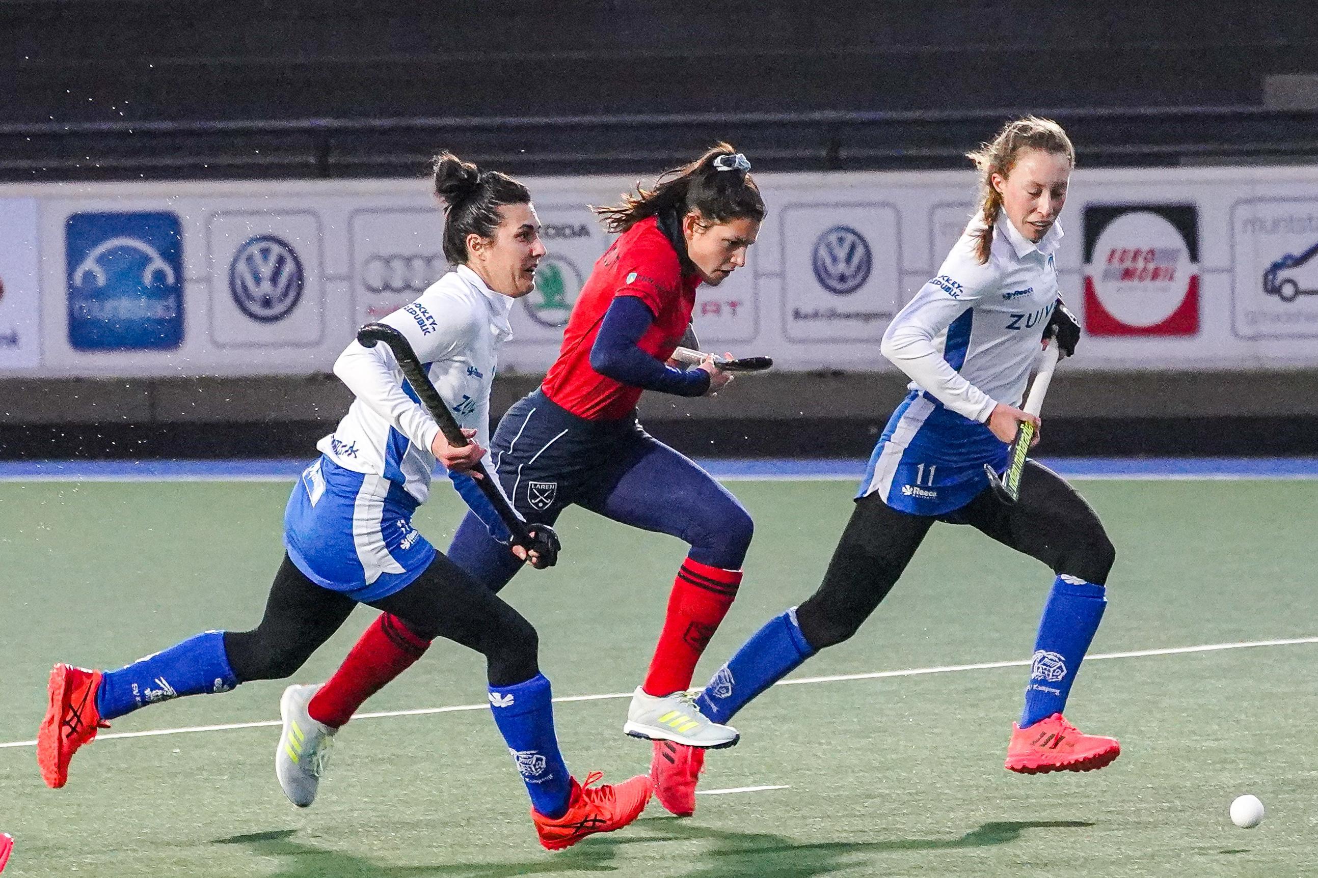 'Angstig' Laren valt uit elkaar tegen concurrent Kampong (4-0) en ziet hekkensluiter Victoria langszij komen in de hoofdklasse