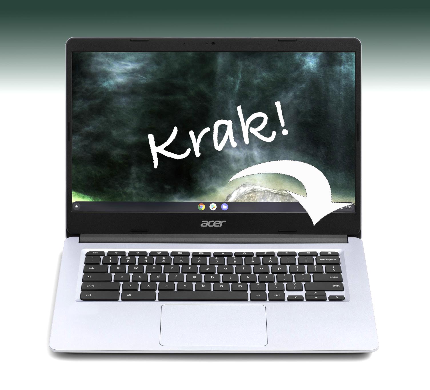 Is kapot scharnier van bijna nieuwe laptop een fabrieksfout? Vast!