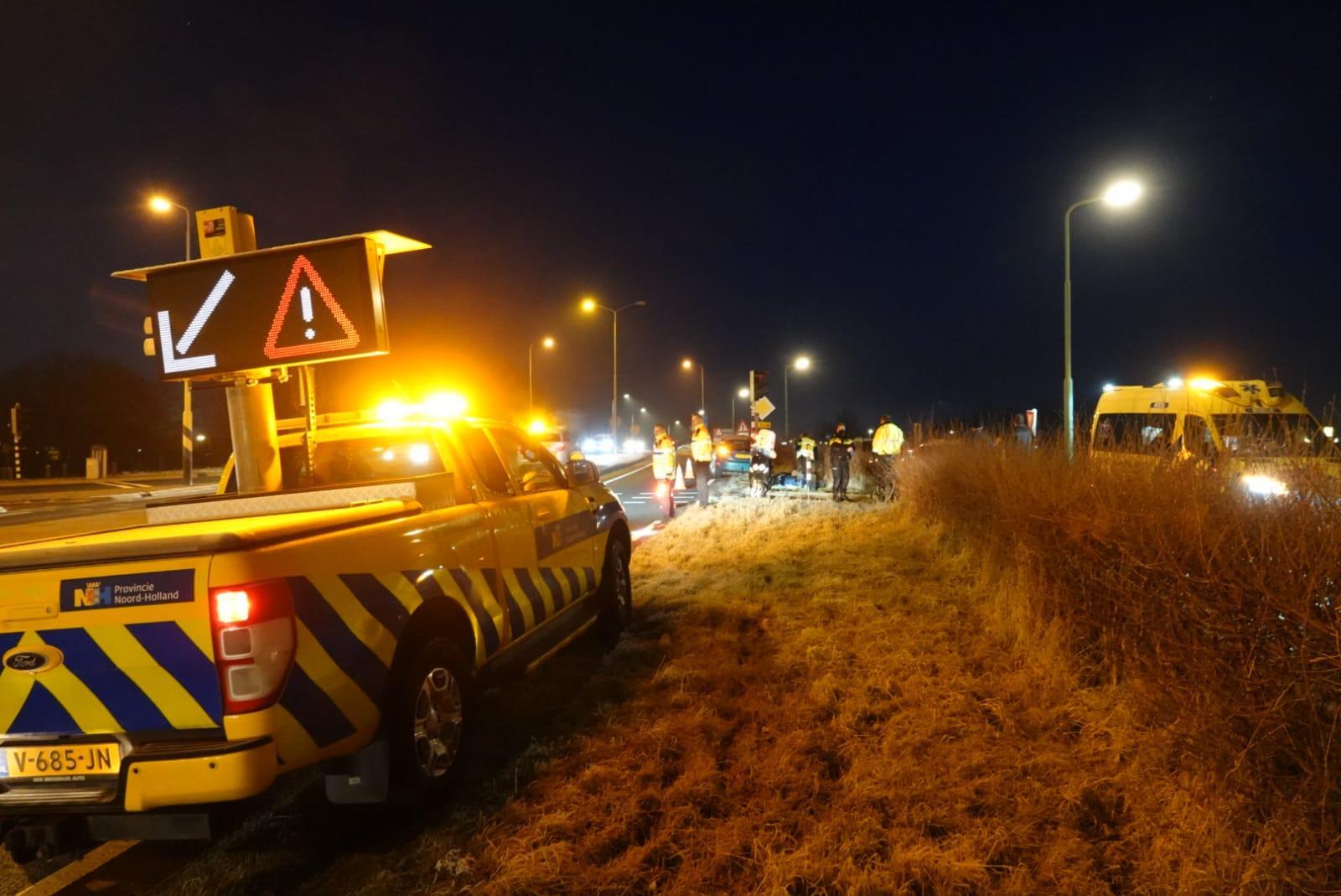 Scooterrijder raakt gewond bij aanrijding op N504 nabij Noord-Scharwoude