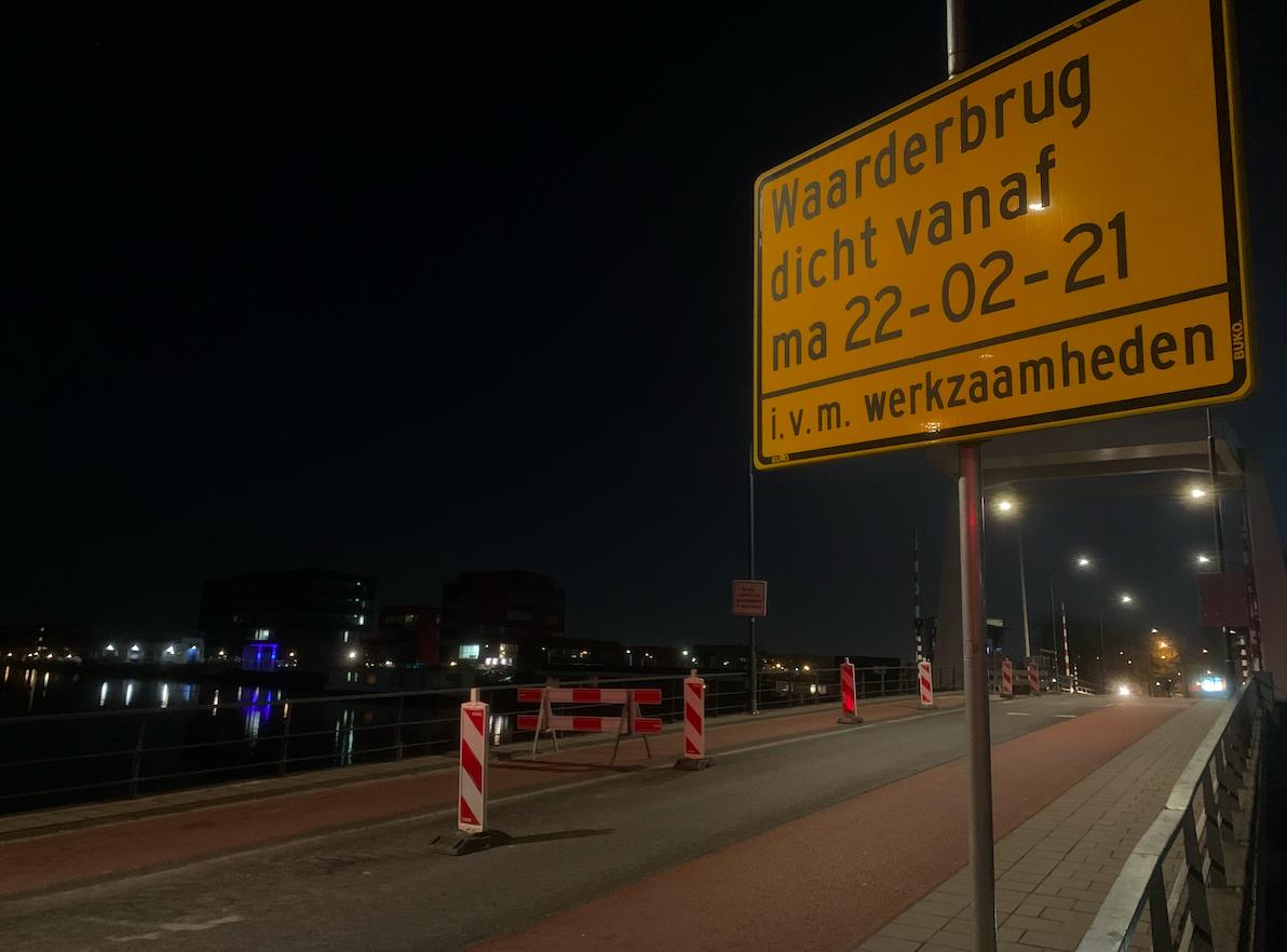 Waarderbrug in Haarlem komende weken afgesloten voor autoverkeer