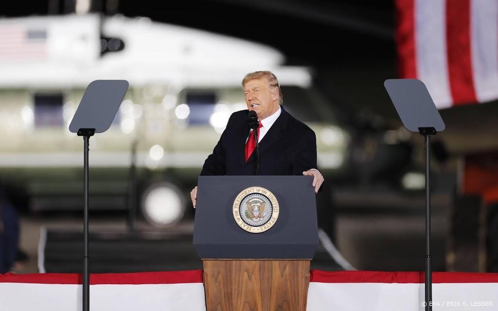 Trump houdt eerste toespraak sinds vertrek uit Witte Huis