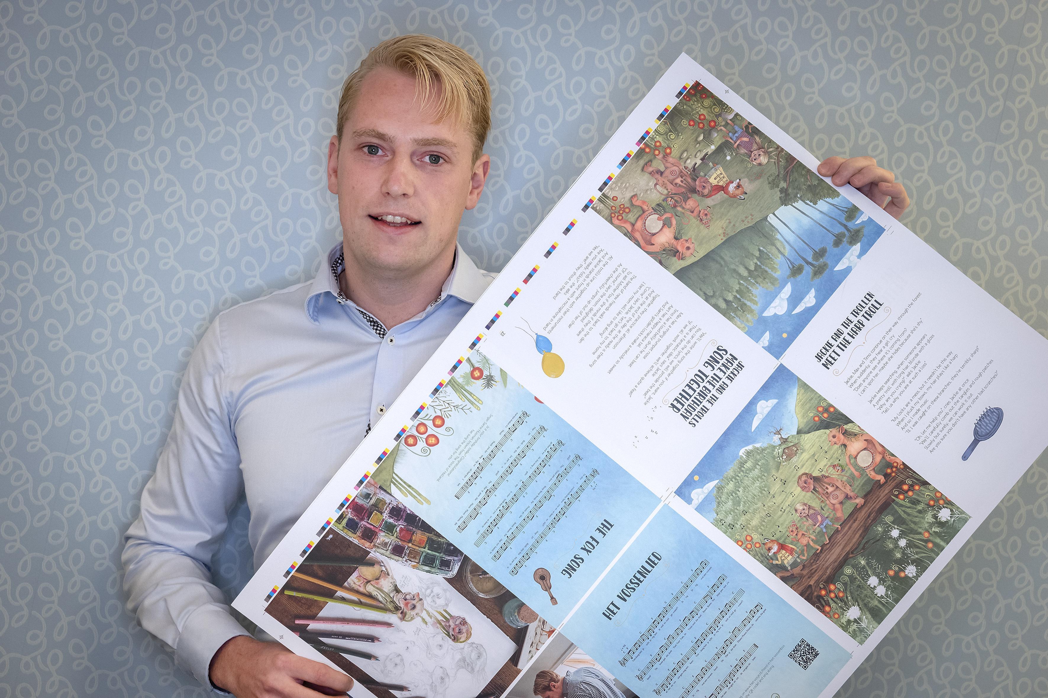 Alles of niets-actie met spontaan gemaakt kinderboek Feest in het Vossenbos. 'Pas als het doelbedrag van 7500 euro gehaald is, gaat de druk ook daadwerkelijk door'
