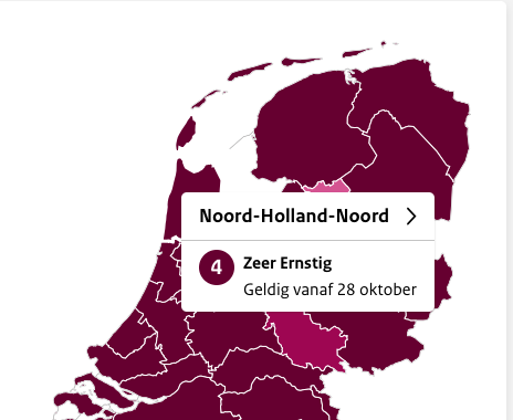 Noord-Holland Noord is nieuwe landelijke coronabrandhaard