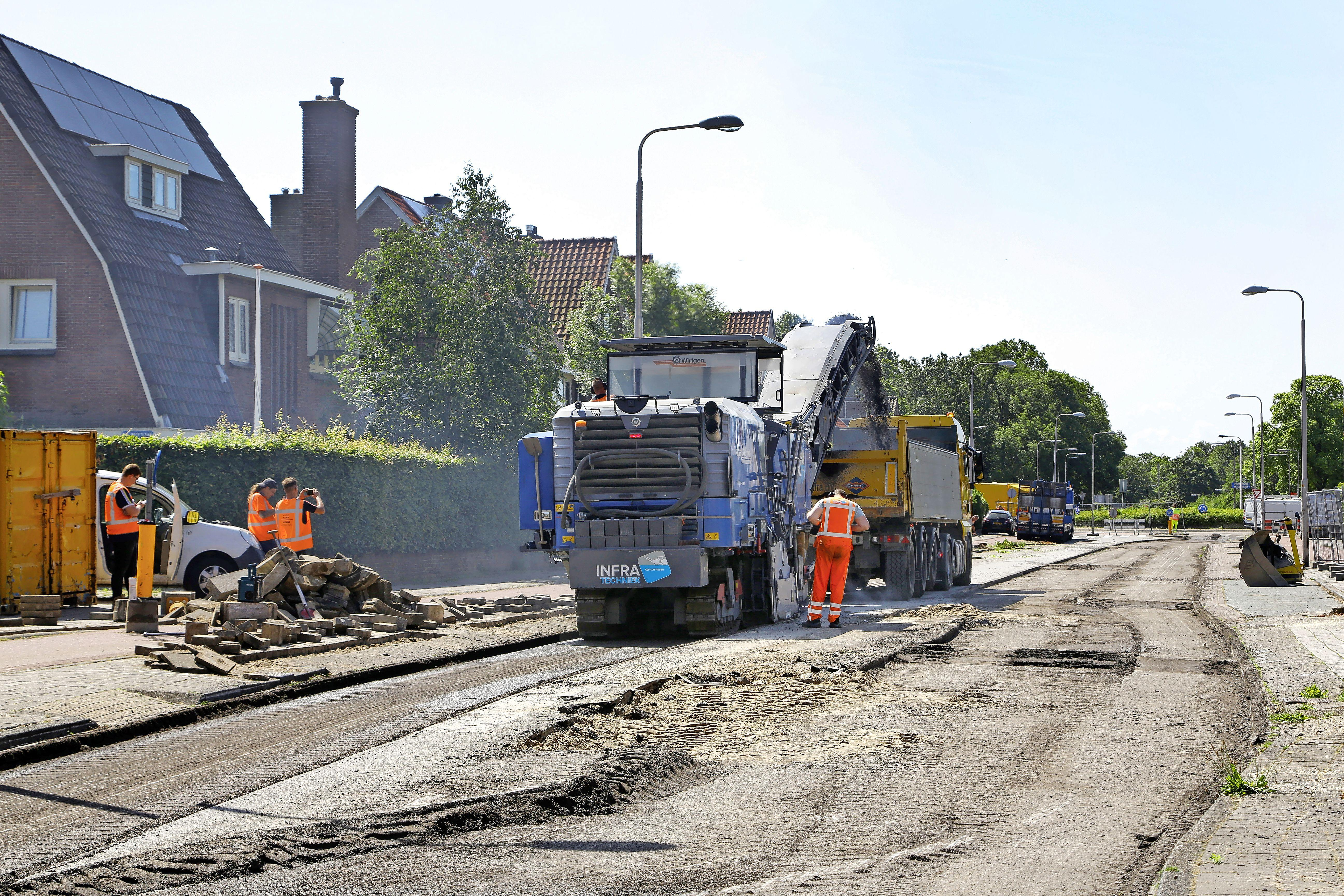 Onderzoek naar slecht wegdek in Driehuis opgebroken door failliet van aannemer Kreeft Infra