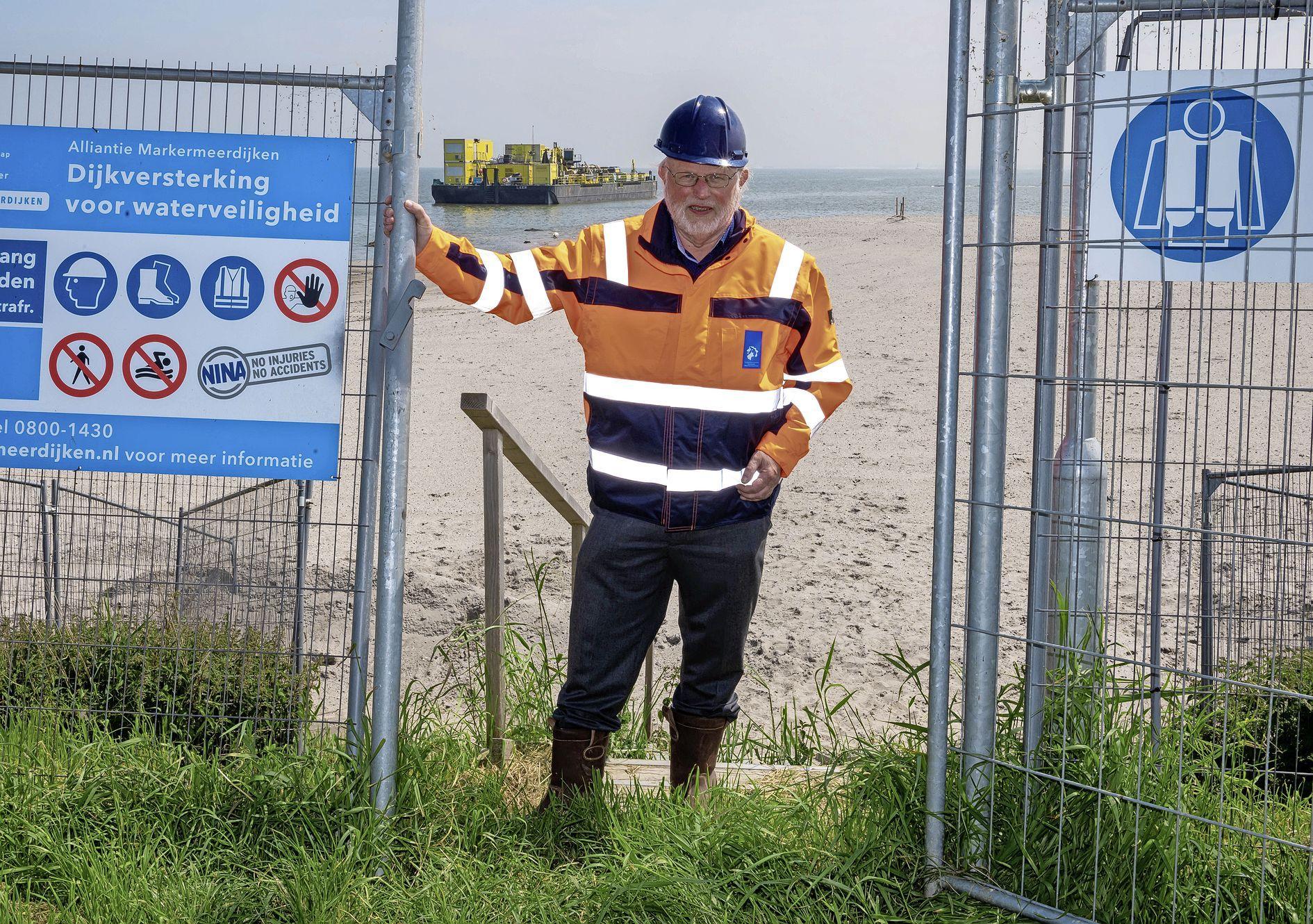 Waterschapsbestuurder Rob Veenman over de dijk in Uitdam: 'Een dijk versterken die tegen de woningen aan staat, is vragen om moeilijkheden'