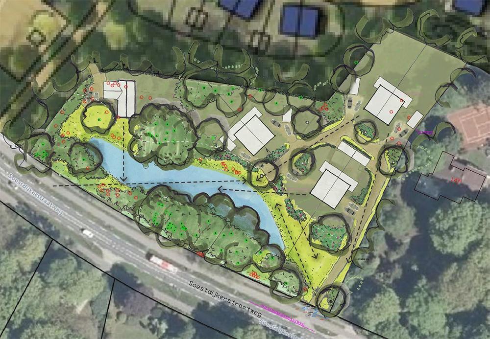 Nieuw wijkje verrijst aan de Soestdijkerstraatweg: wie in een van de zeven kapitale villa's wil wonen moet minimaal 965.000 euro neertellen