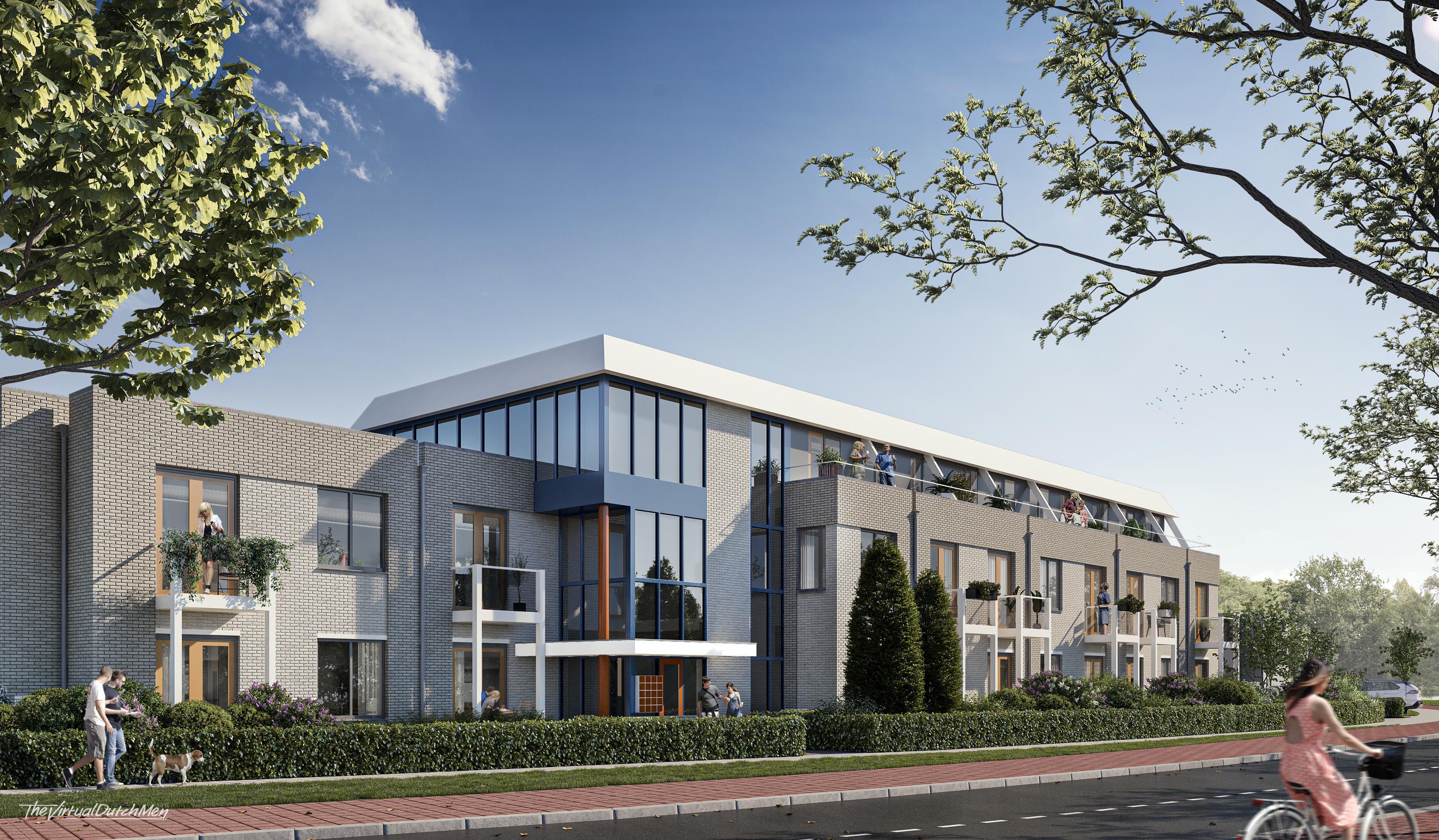 Nieuwe toekomst voor leegstaand kantoorpand aan de Nieuweweg: negentien appartementen in de sociale huur; Bewoners kunnen er begin 2022 in