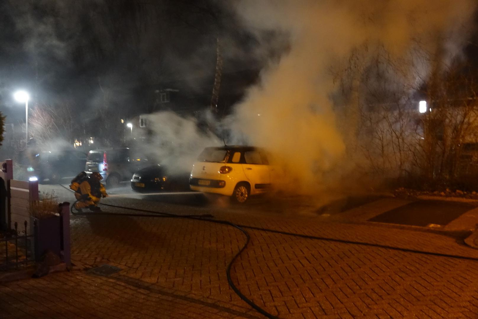 Autobrand op de Bunderstraat in Purmerend